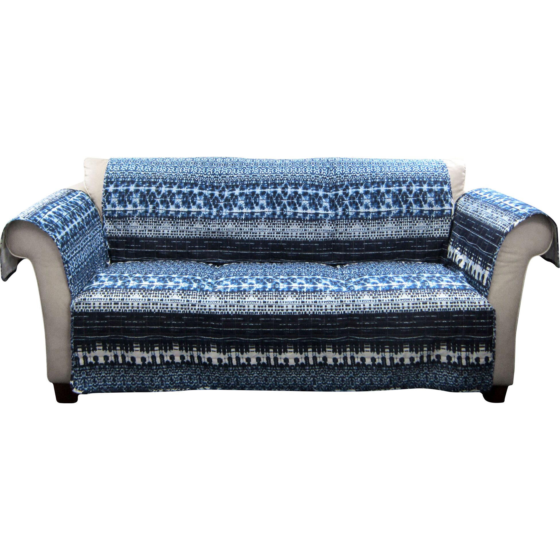 Lush decor lambert tie dye sofa protector reviews wayfair for Furniture 2 day shipping