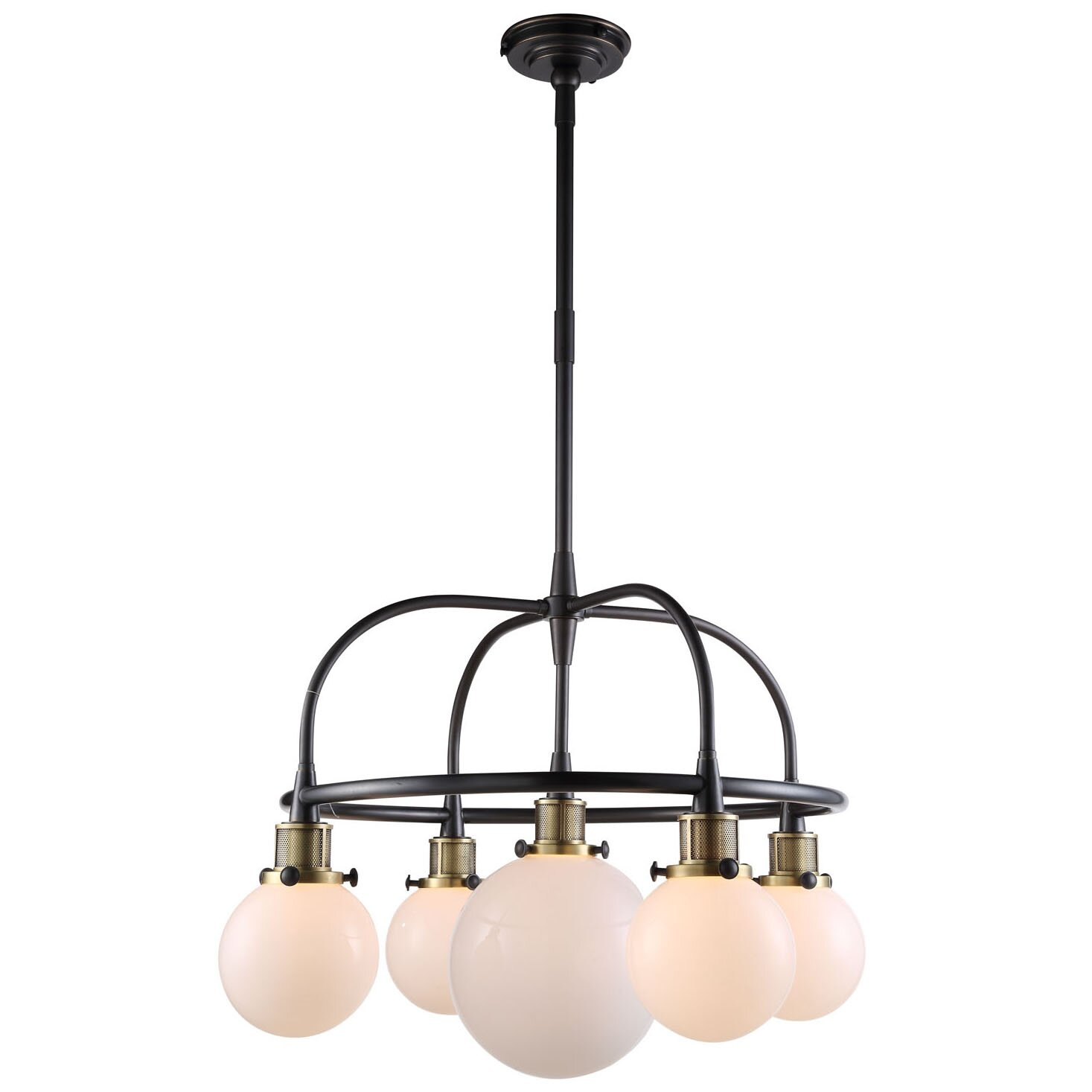 Elegant lighting santos 5 light kitchen island pendant for 5 lamp kitchen light