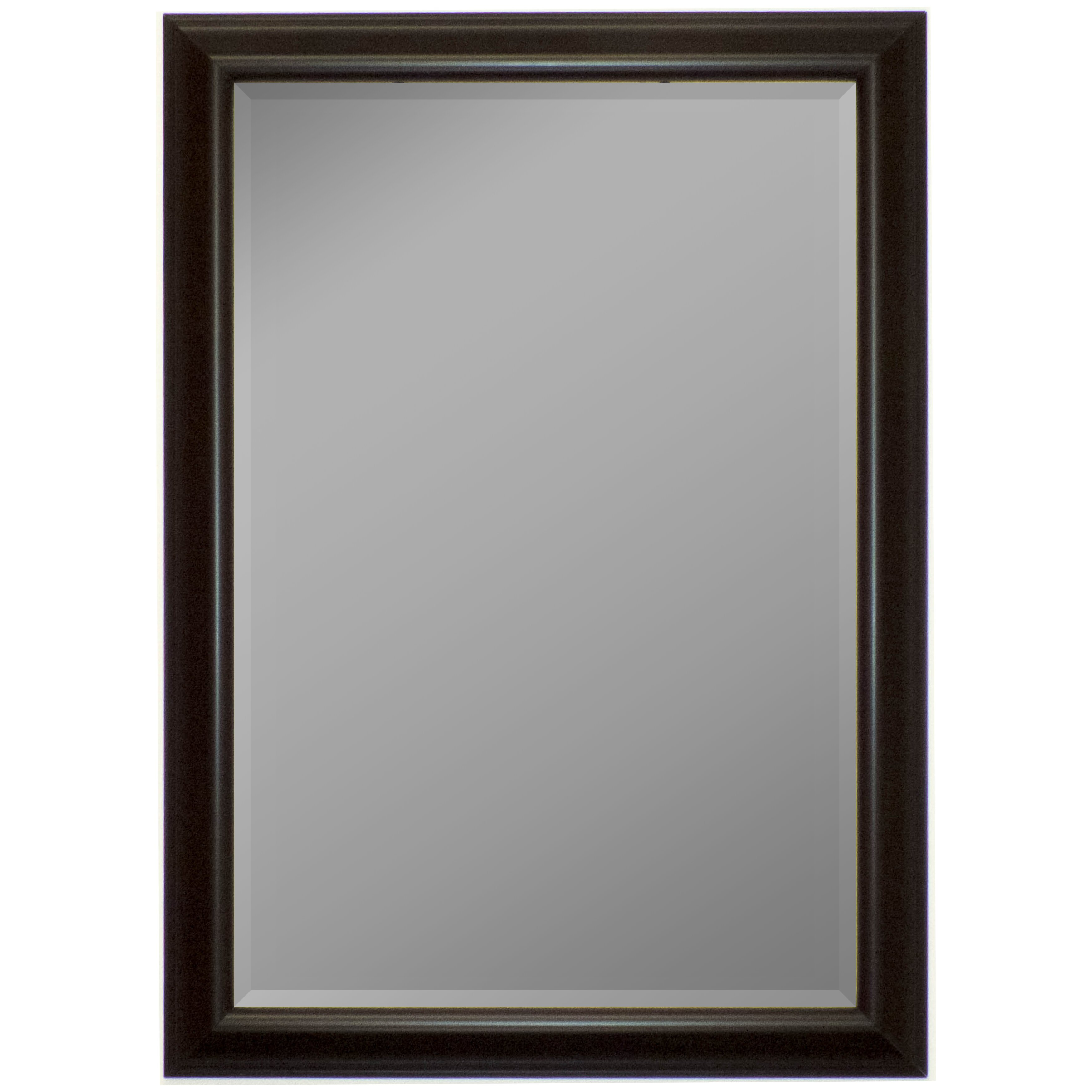 Second look mirrors glossy silver smoked black wall mirror for Black wall mirror