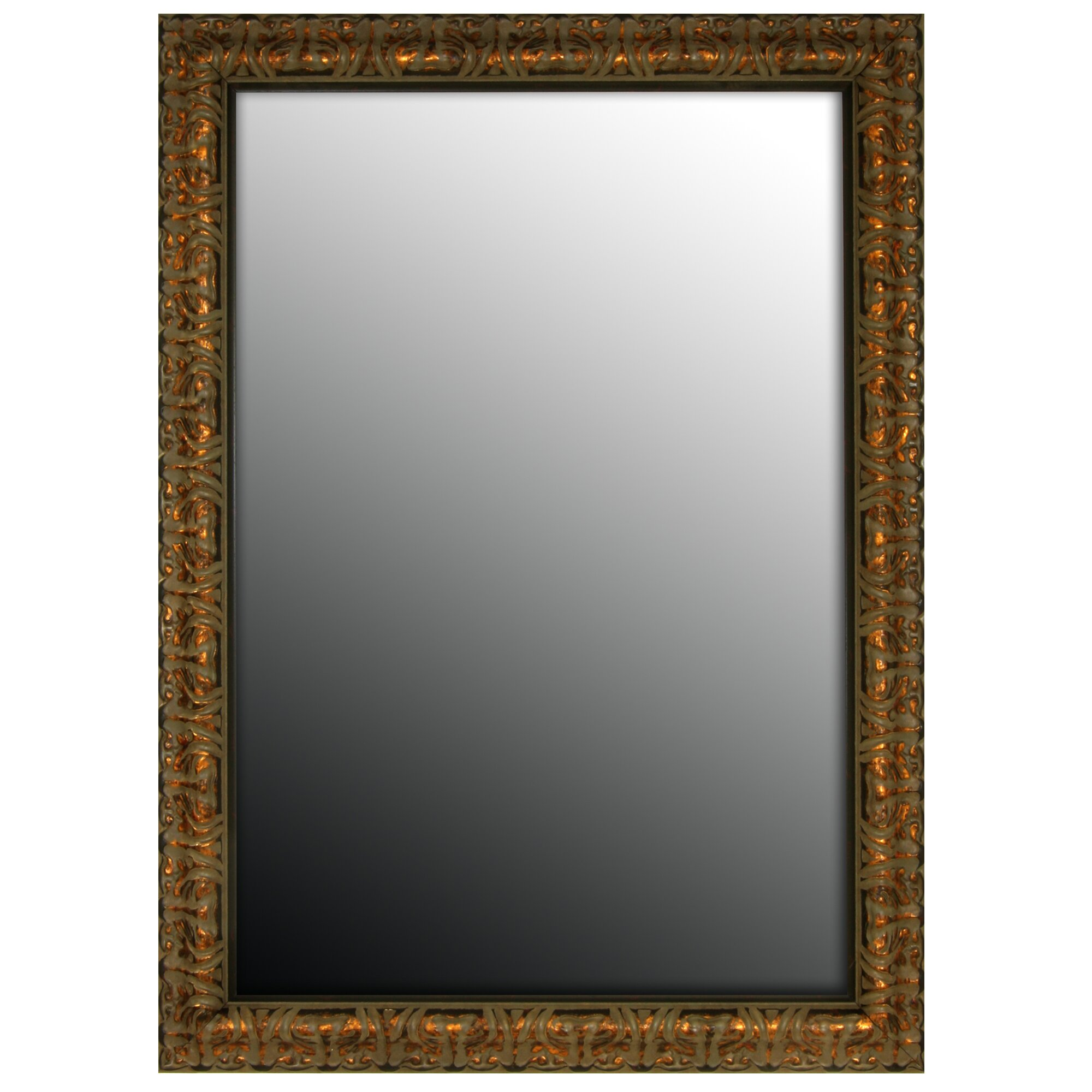 Second look mirrors olde world aged copper wall mirror for Looking mirror