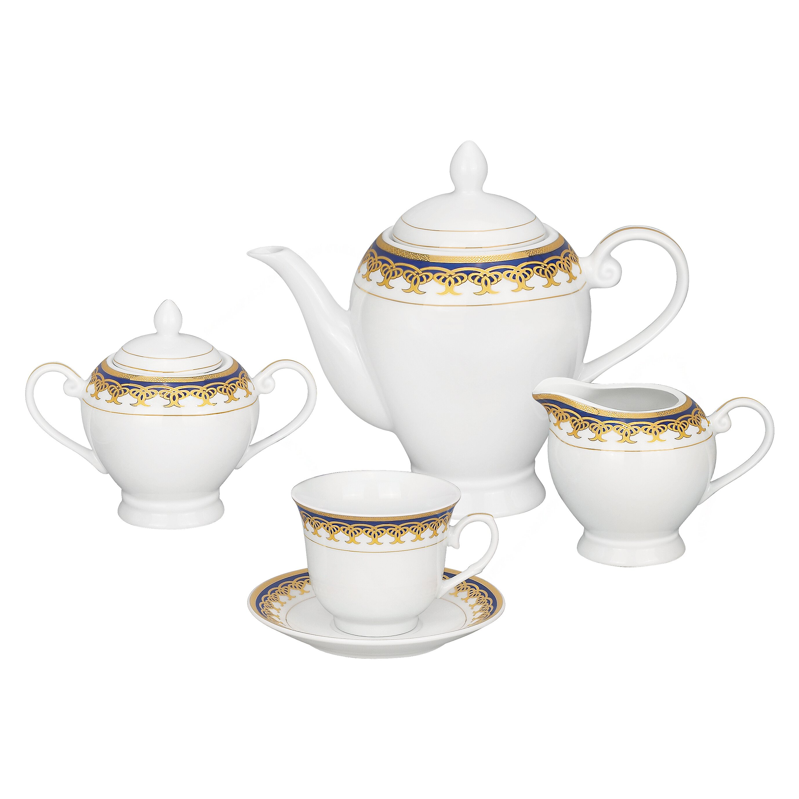 Lorren home trends iris 57 piece porcelain dinnerware set for Kitchen dish sets