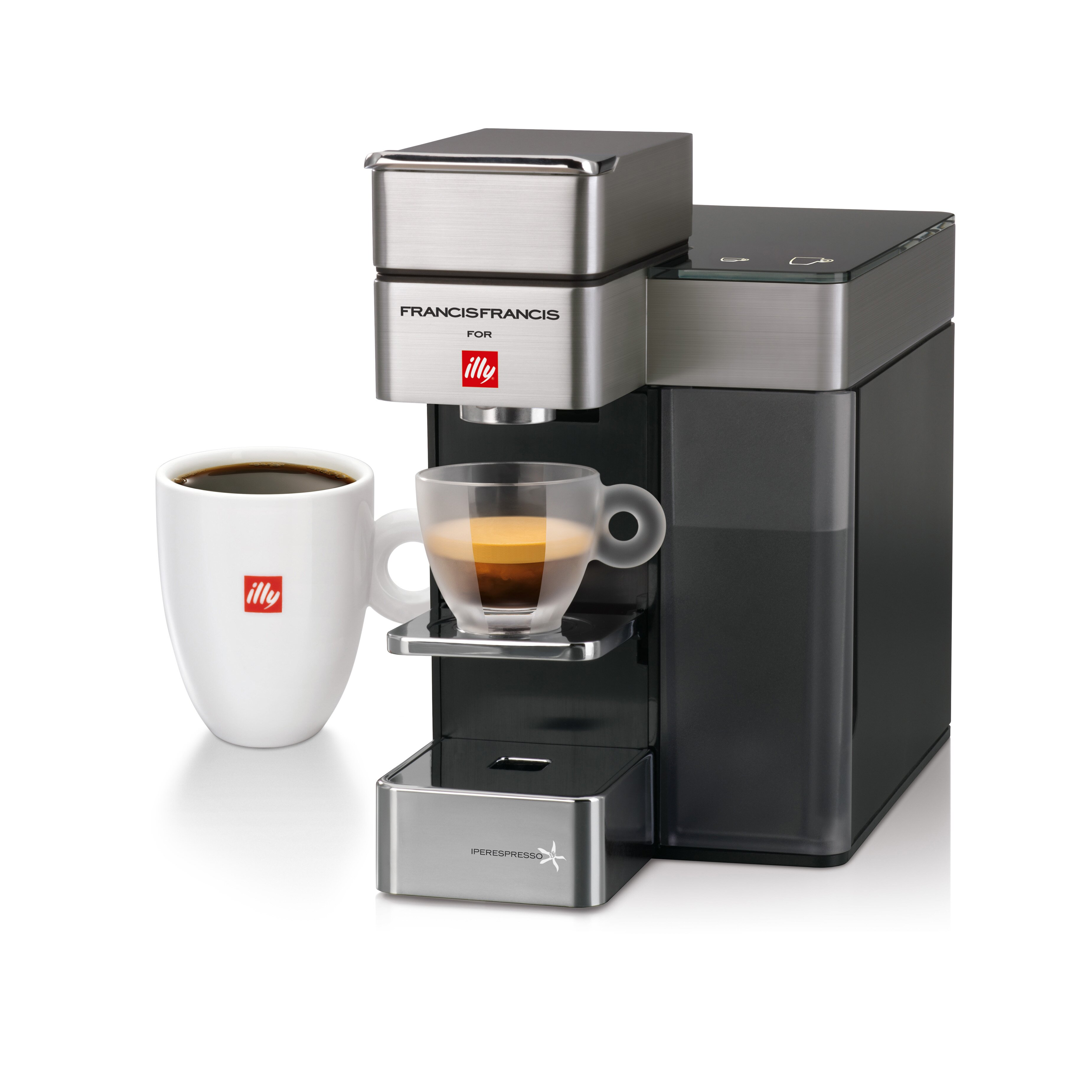 Illy Caffe & Espresso Francis Francis for illy Y5 Duo Espresso and Coffee Maker & Reviews Wayfair