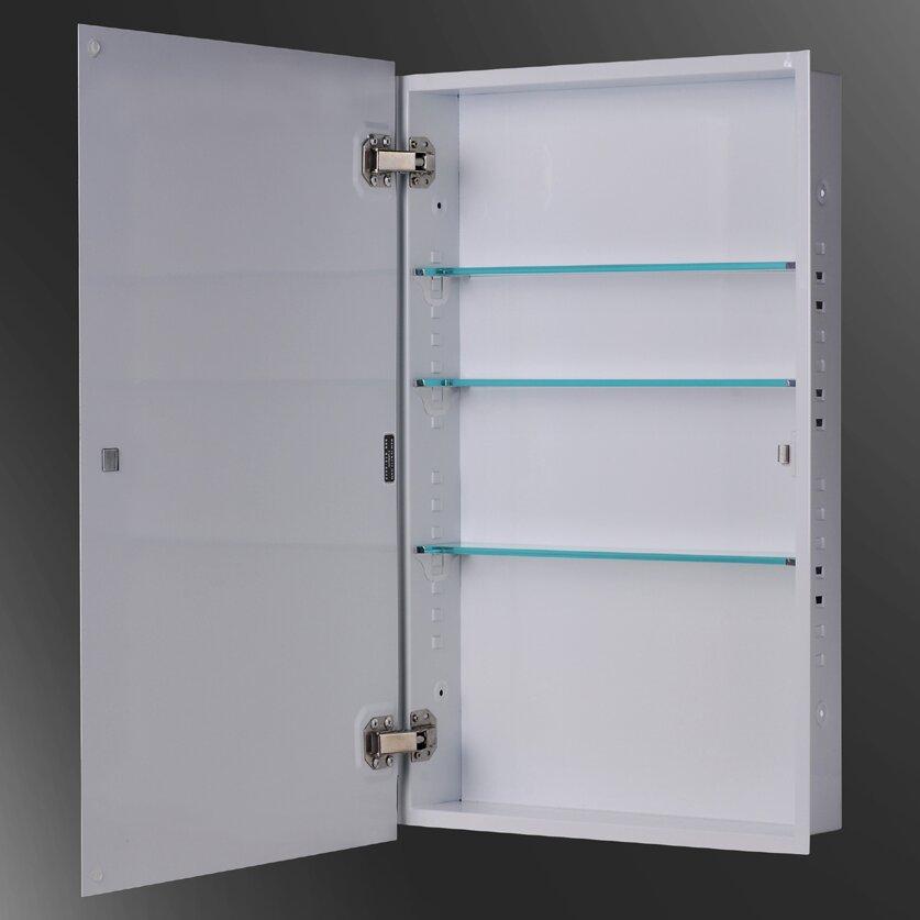 Ketcham Medicine Cabinets Euroline 18 X 24 Recessed Beveled Edge Medicine Cabinet Reviews