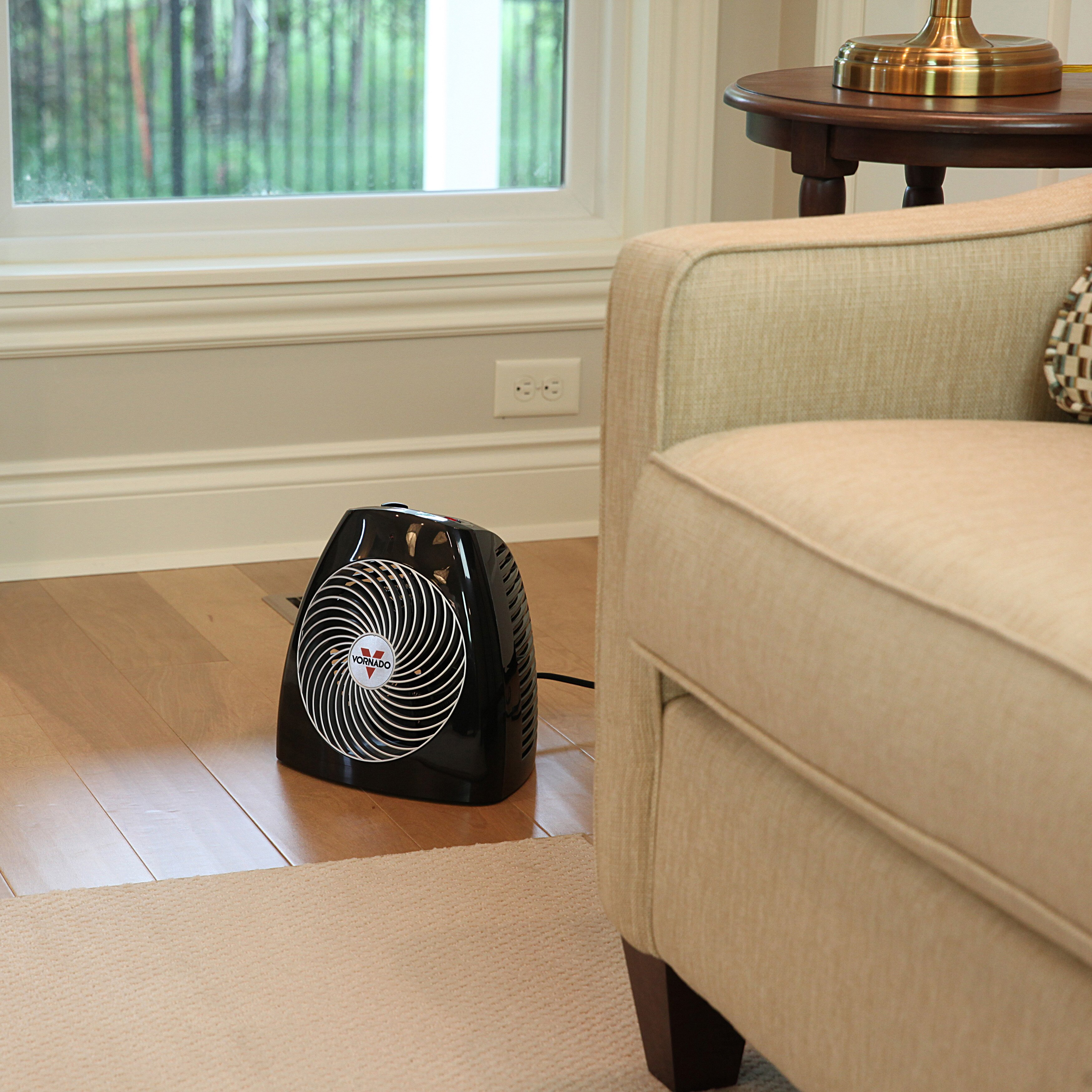 Watt Portable Electric Fan Compact Heater with Adjustable Thermostat