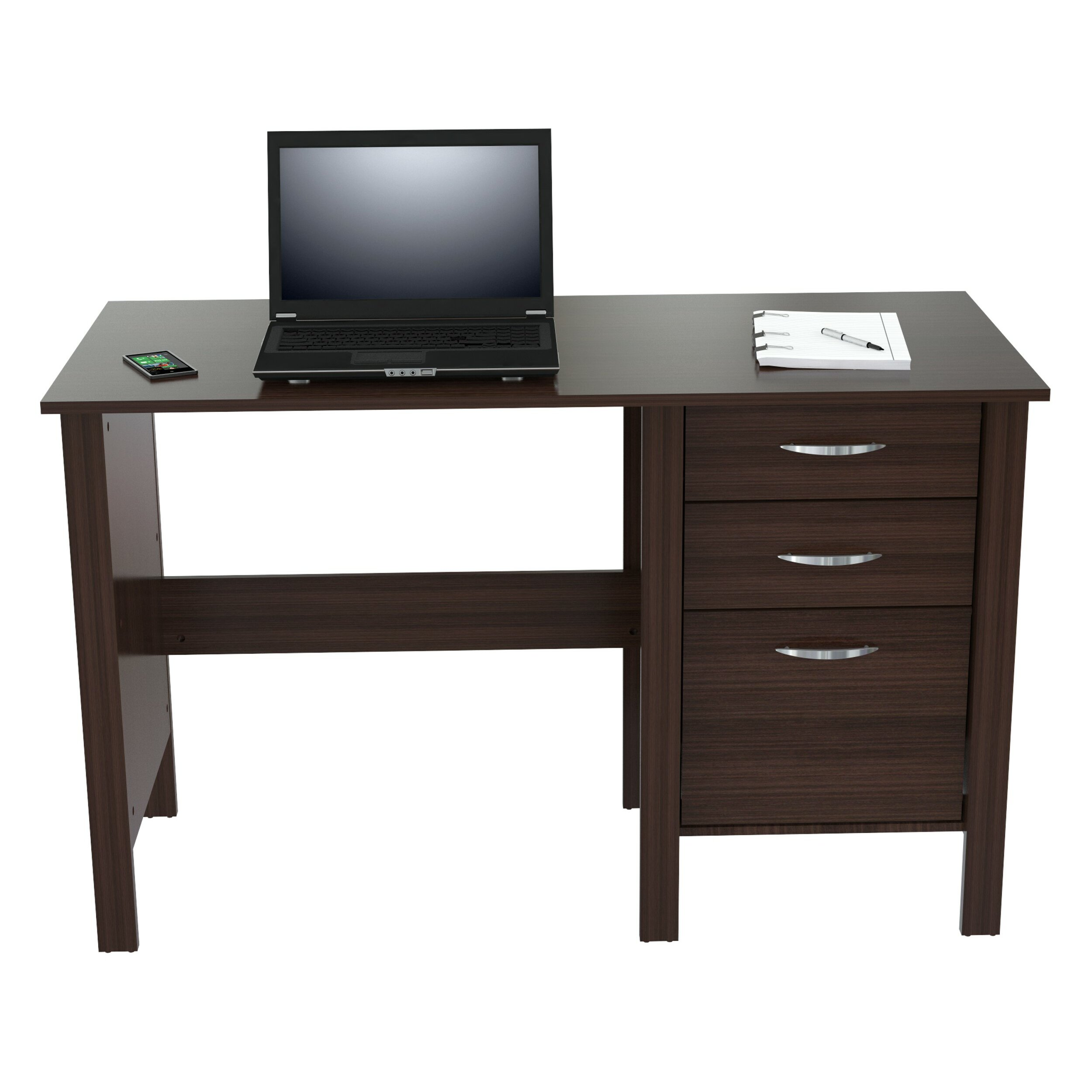 Amazing photo of Inval Computer Desk with 3 Drawers & Reviews Wayfair with #342824 color and 2500x2500 pixels