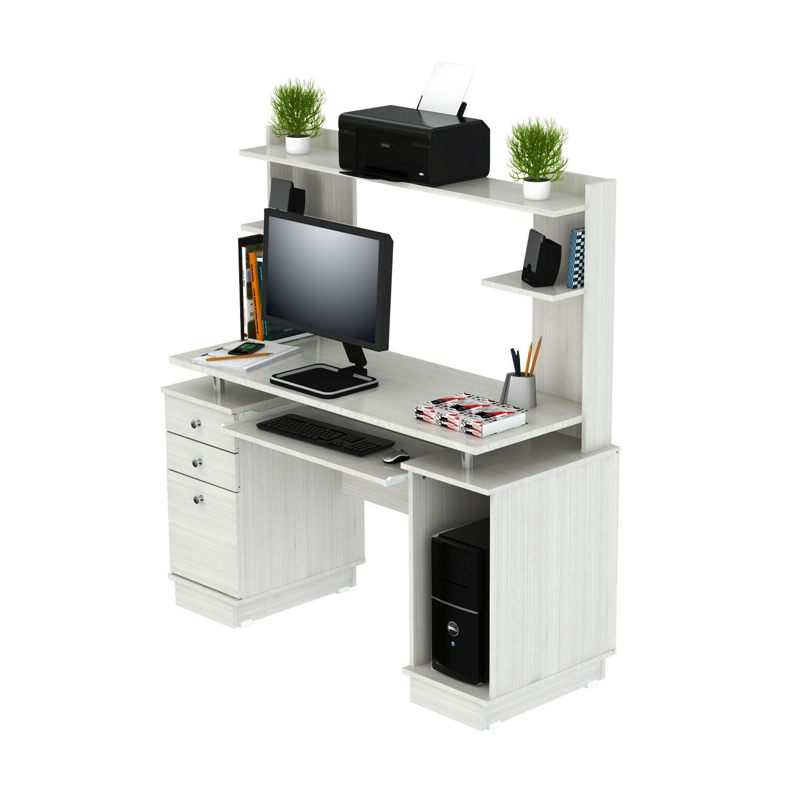 Inval Laura Computer Desk With Hutch Amp Reviews Wayfair