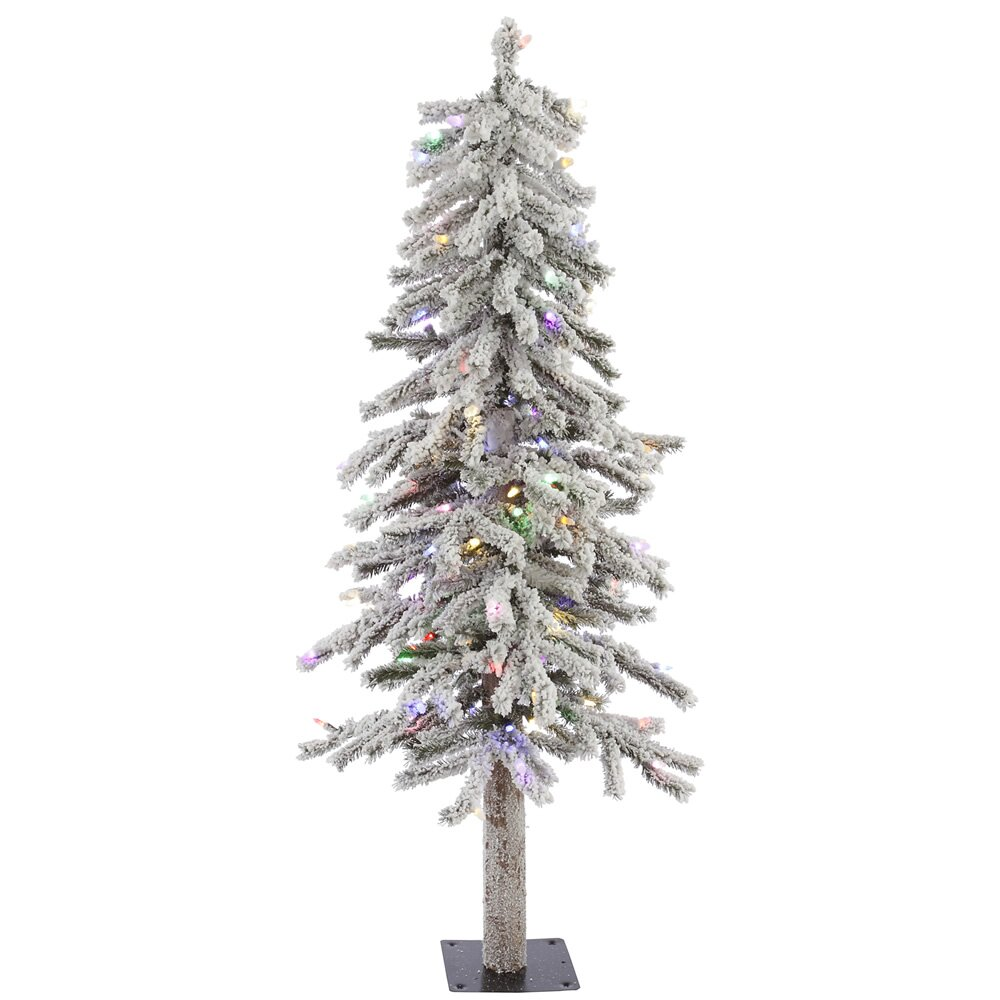 vickerman flocked alpine 4 39 white artificial christmas