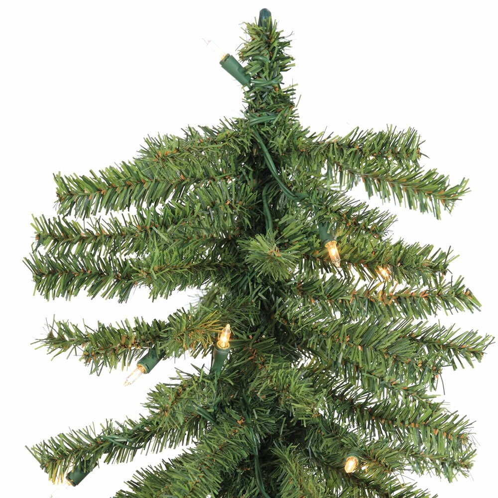 Vickerman 7' Natural Alpine Green Artificial Christmas Tree with ...