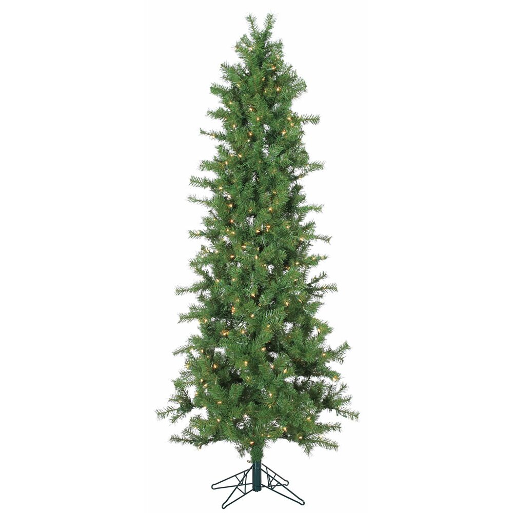 Vickerman 3 5 Slim Spruce Artificial Christmas Tree With