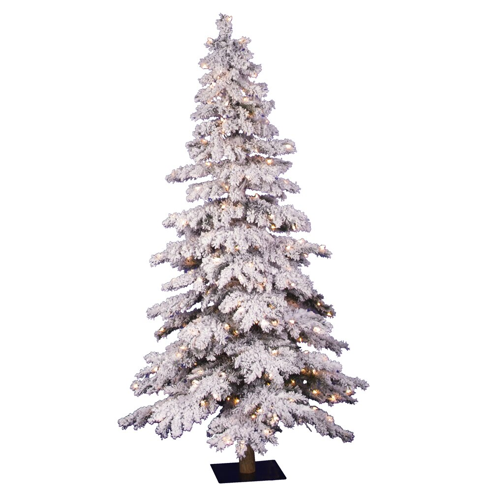 Vickerman Flocked Spruce Alpine 6' White Artificial