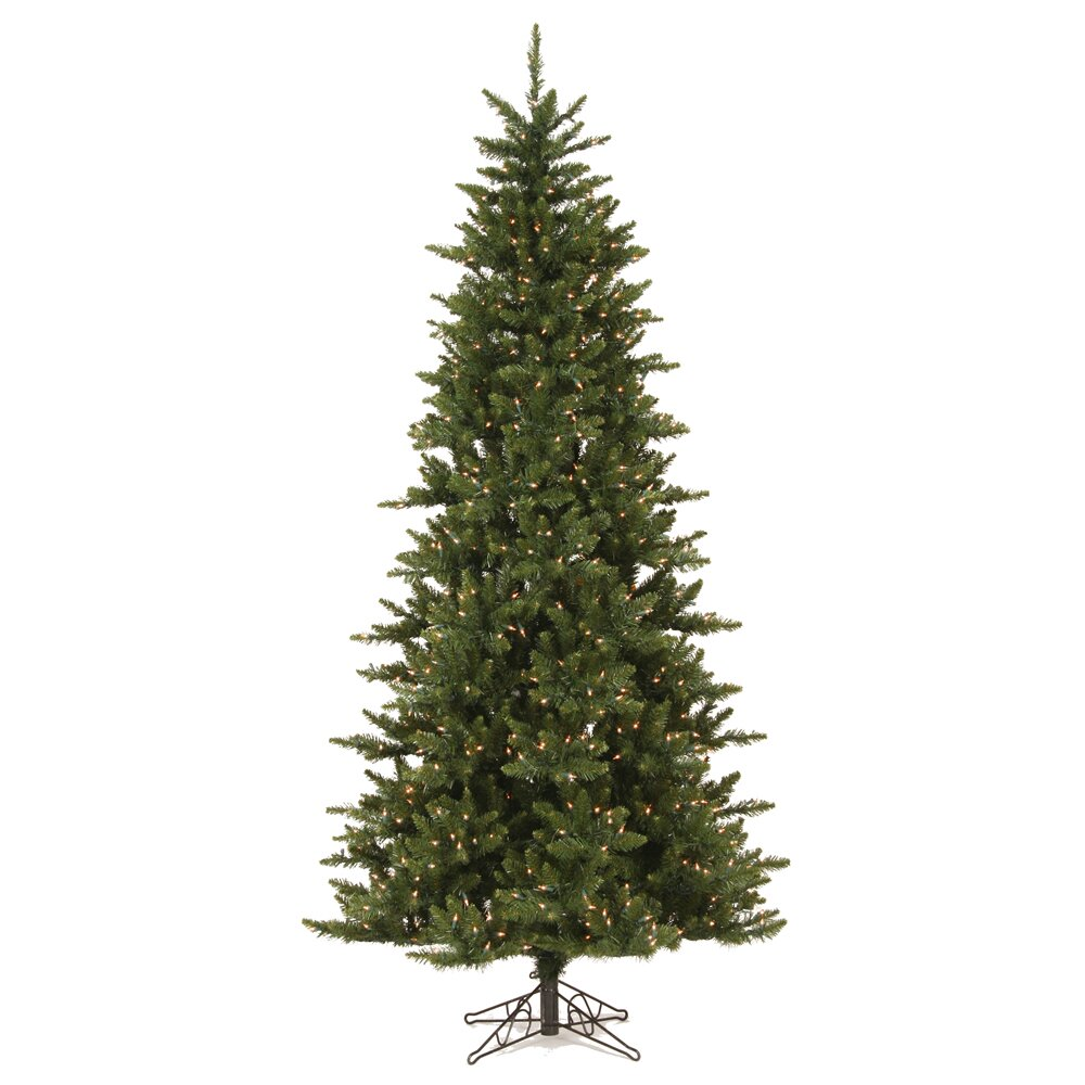 Nice Prelit Led Christmas Tree #3: Vickerman-Co.-Camdon-Fir-7.5-Green-Artificial-Slim-Christmas-Tree-with-585-LED-Warm-White-Lights-A860876LED.jpg