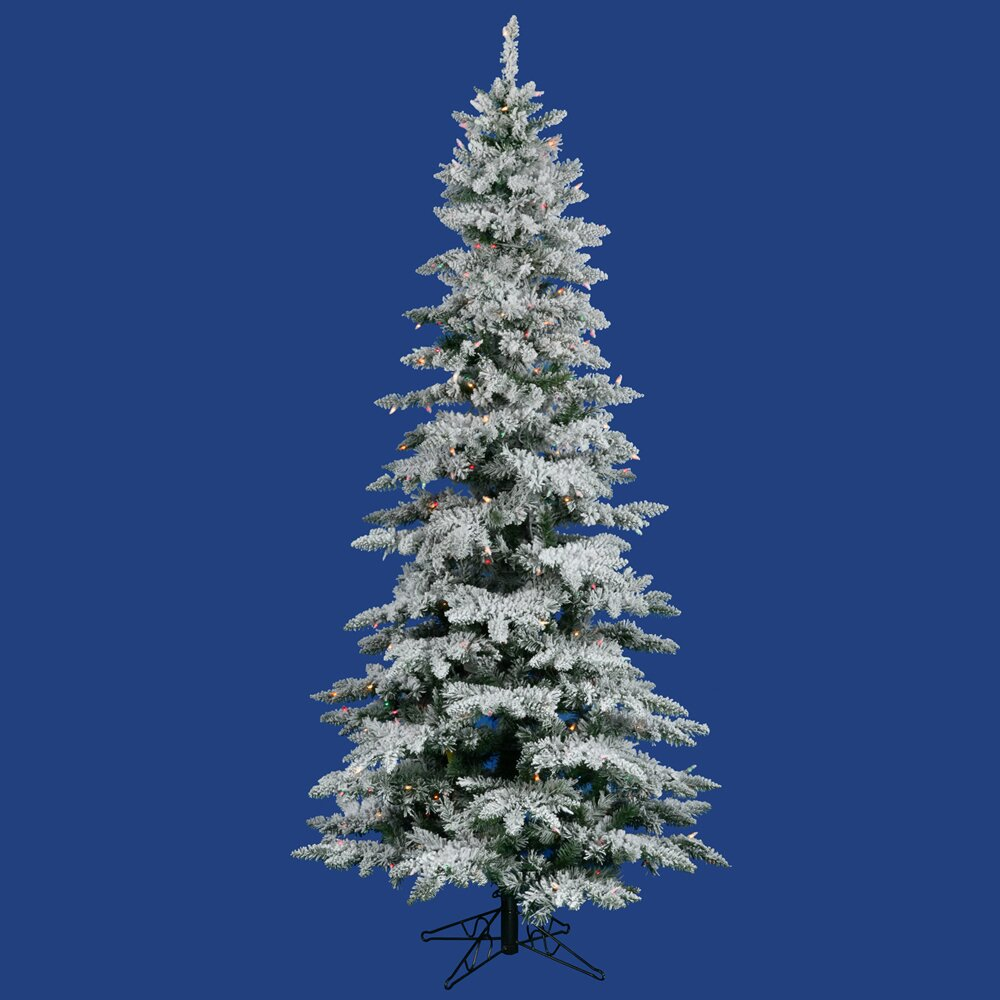 vickerman flocked utica fir 6 5 39 white artificial christmas tree with. Black Bedroom Furniture Sets. Home Design Ideas