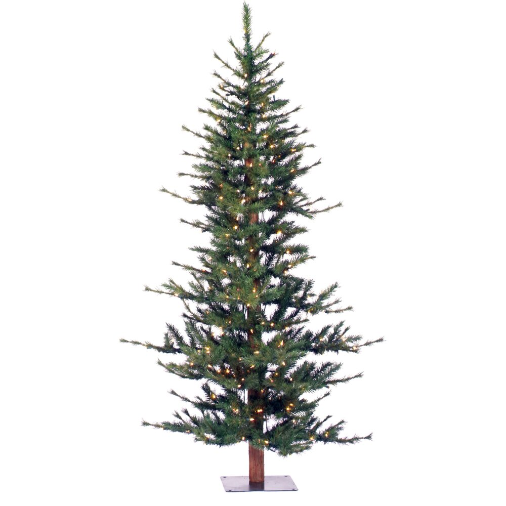 Pre Lit Half Christmas Tree: Vickerman Minnesota Pine 6' Green Artificial Half