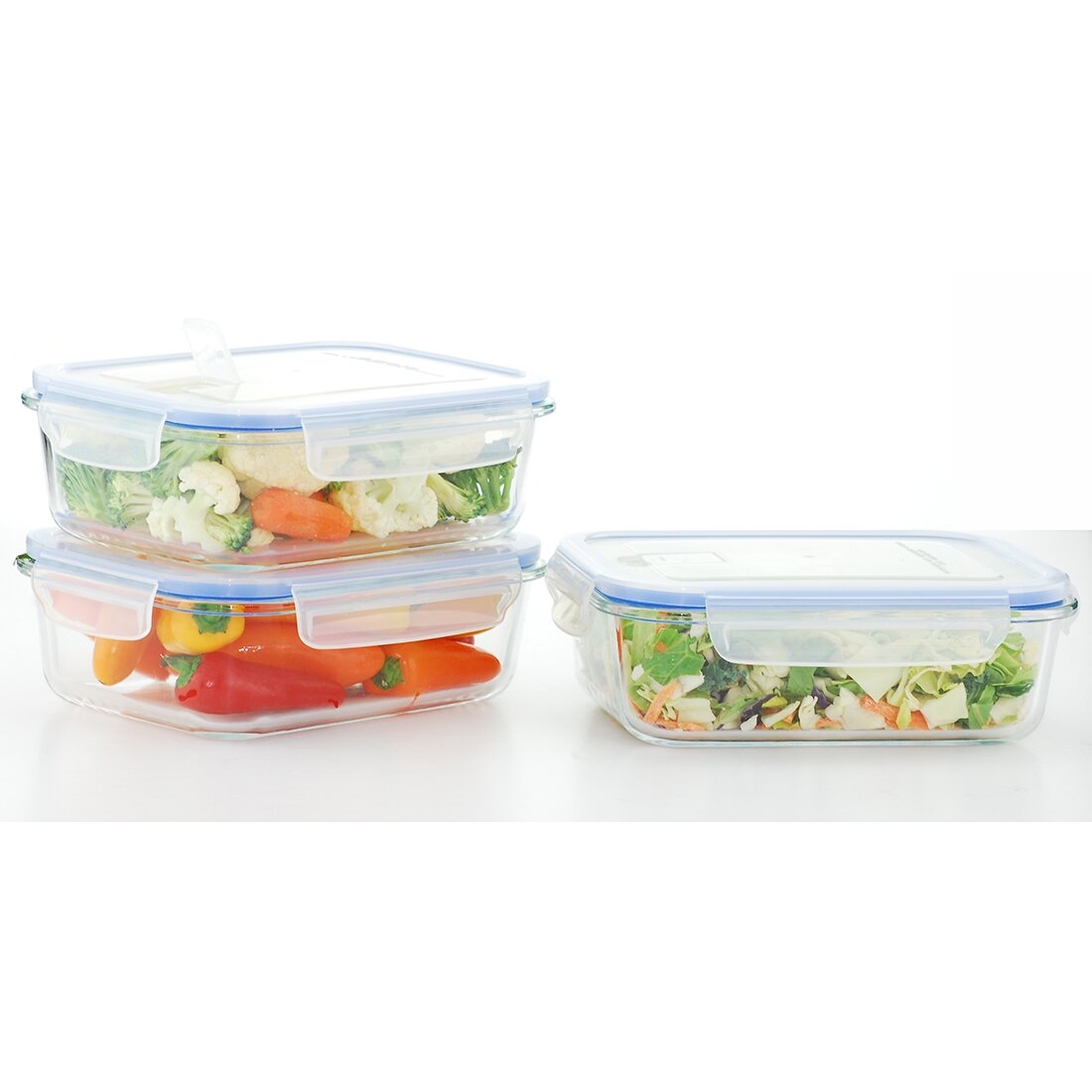 Kinetic go green glasslock elements 3 piece food storage for 3 pieces cuisine