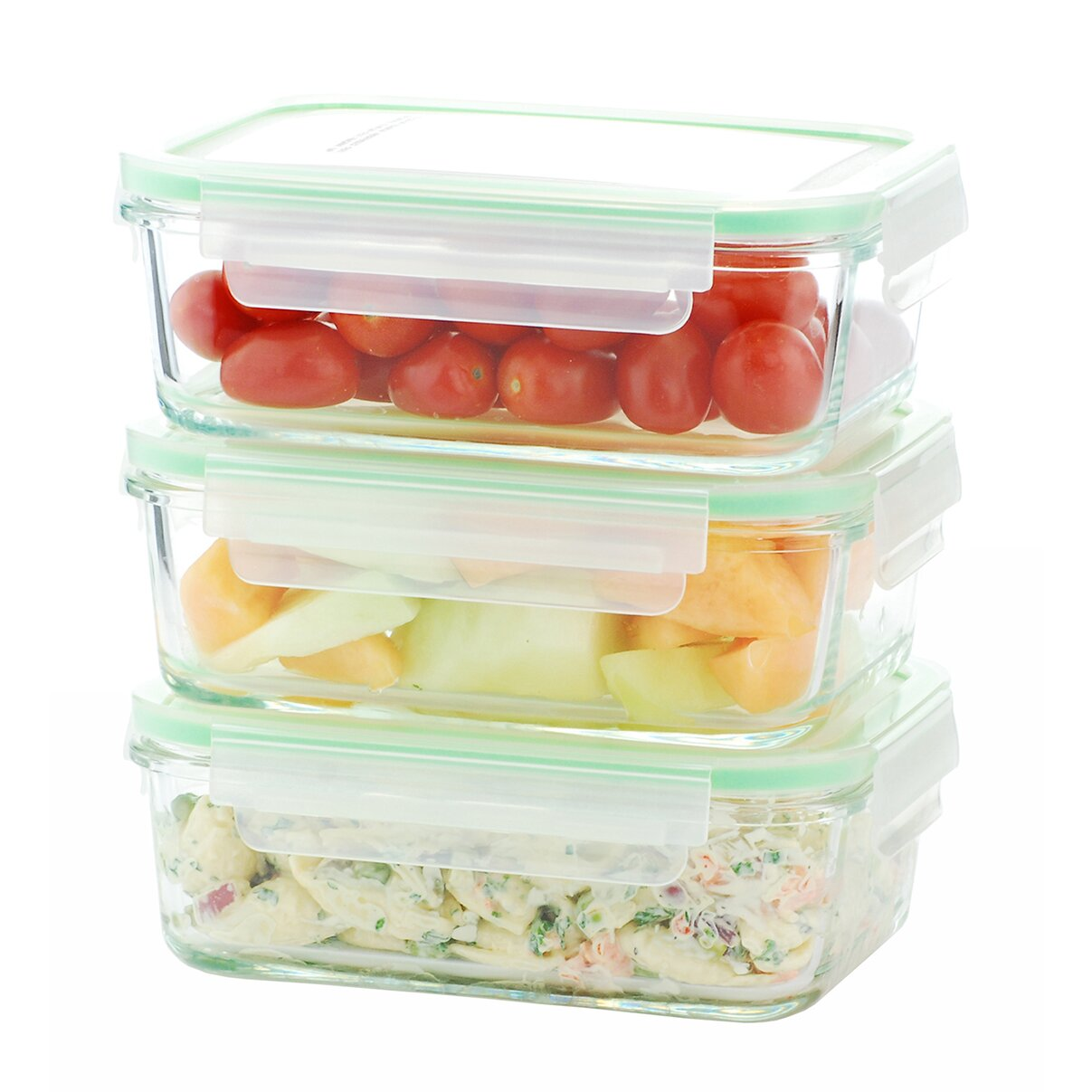 Kinetic go green glassworks elements 3 piece food storage for 3 pieces cuisine