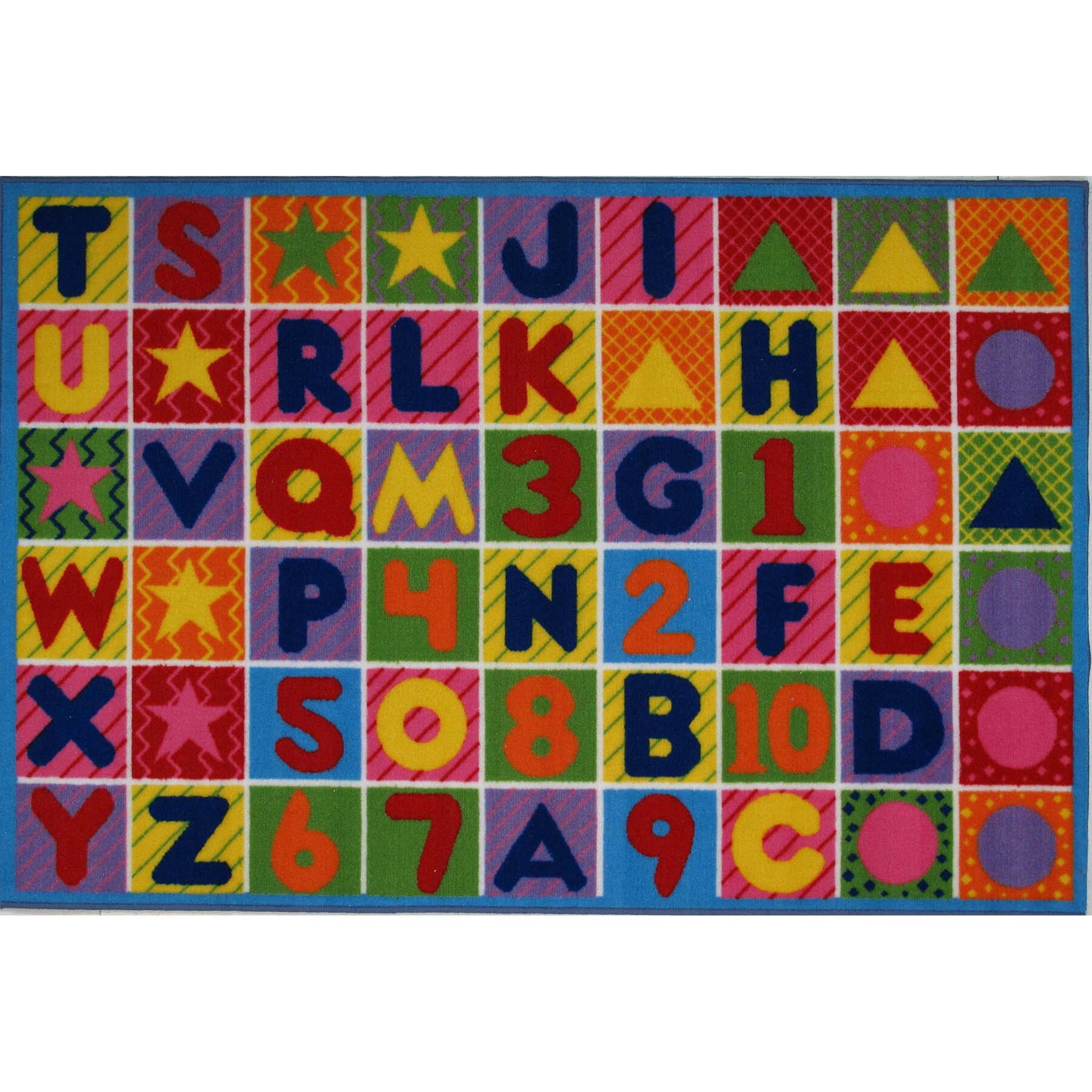 Fun Rugs Fun Time Numbers And Letters Kids Area Rug