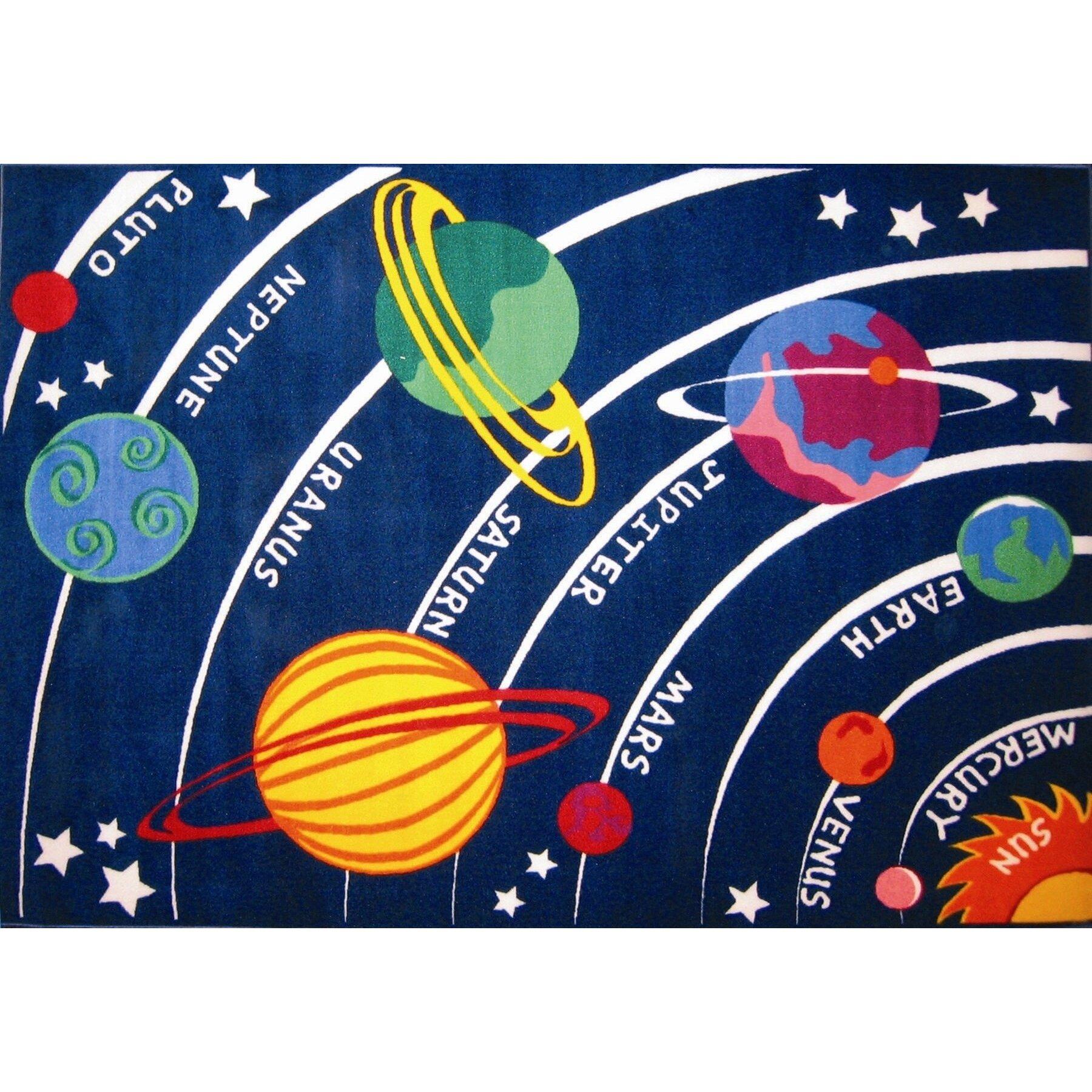 Classroom Rug: Fun Rugs Fun Time Solar System Classroom Area Rug