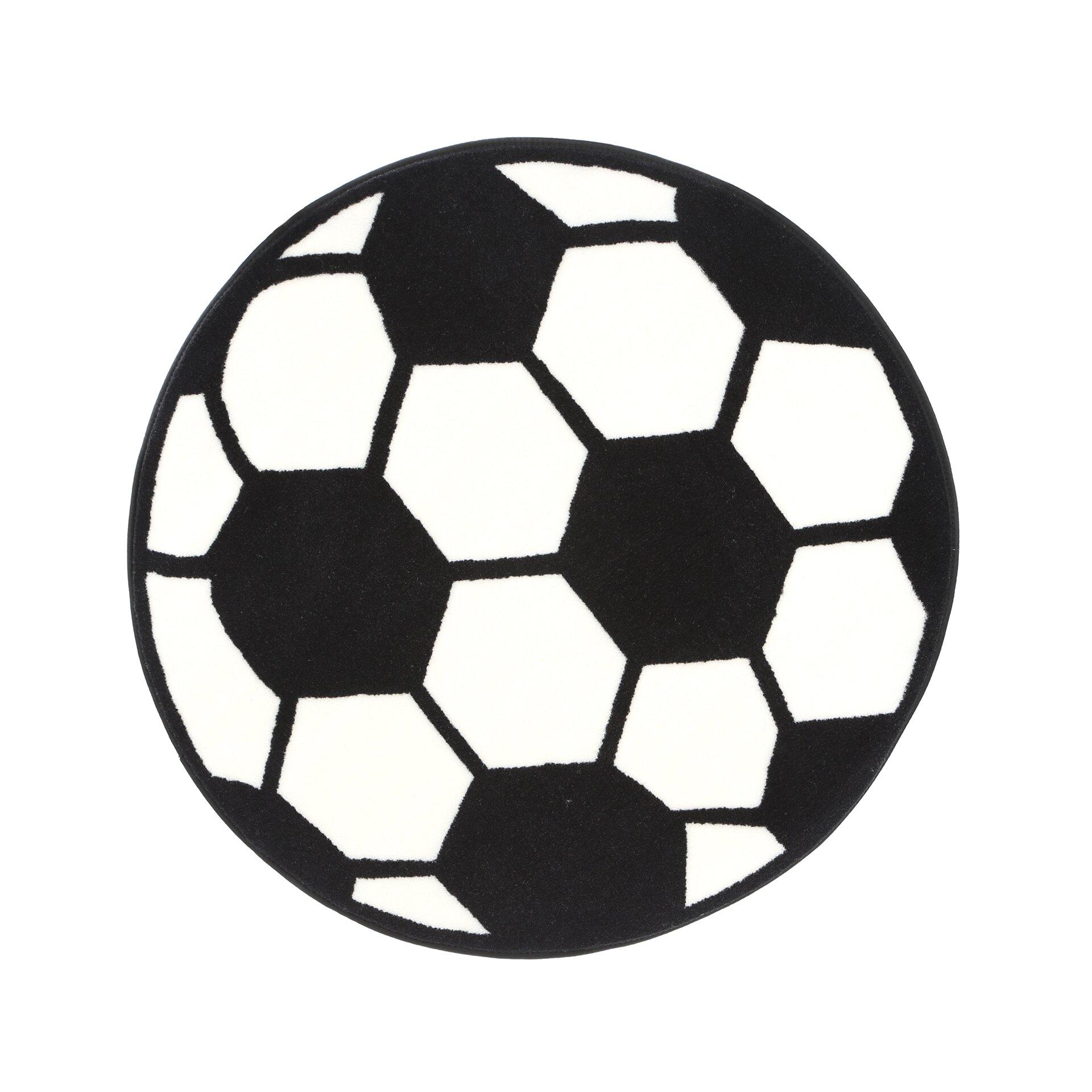 Fun Rugs Fun Shape High Pile Soccerball Sports Area Rug