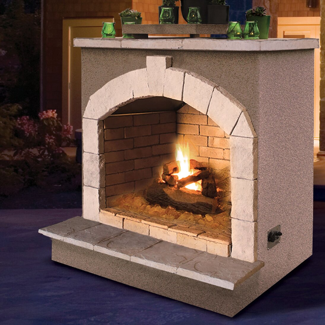 CalFlame Propane Gas Outdoor Fireplace & Reviews | Wayfair