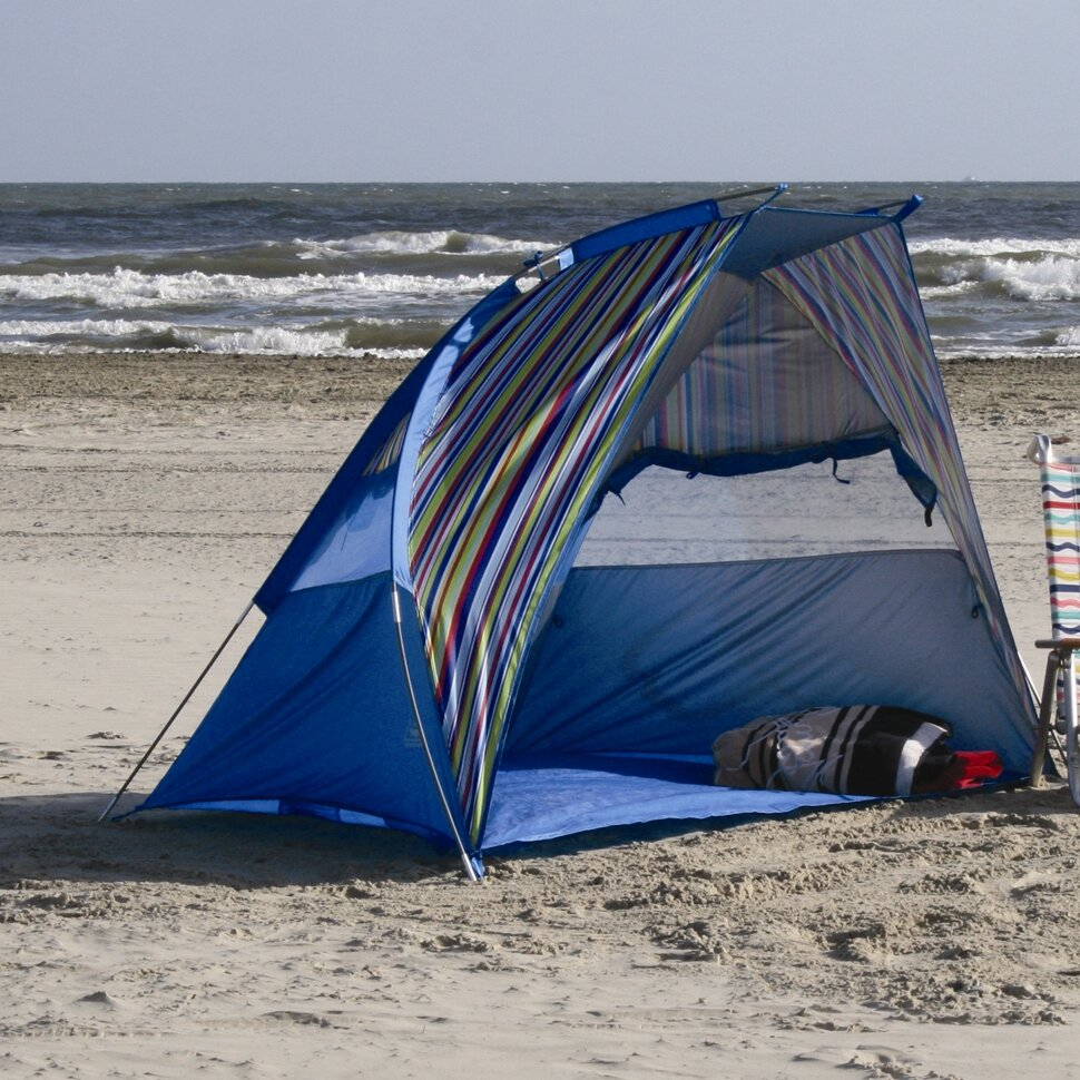 Beach Tents Cabanas : Texsport calypso cabana beach shelter tent reviews wayfair