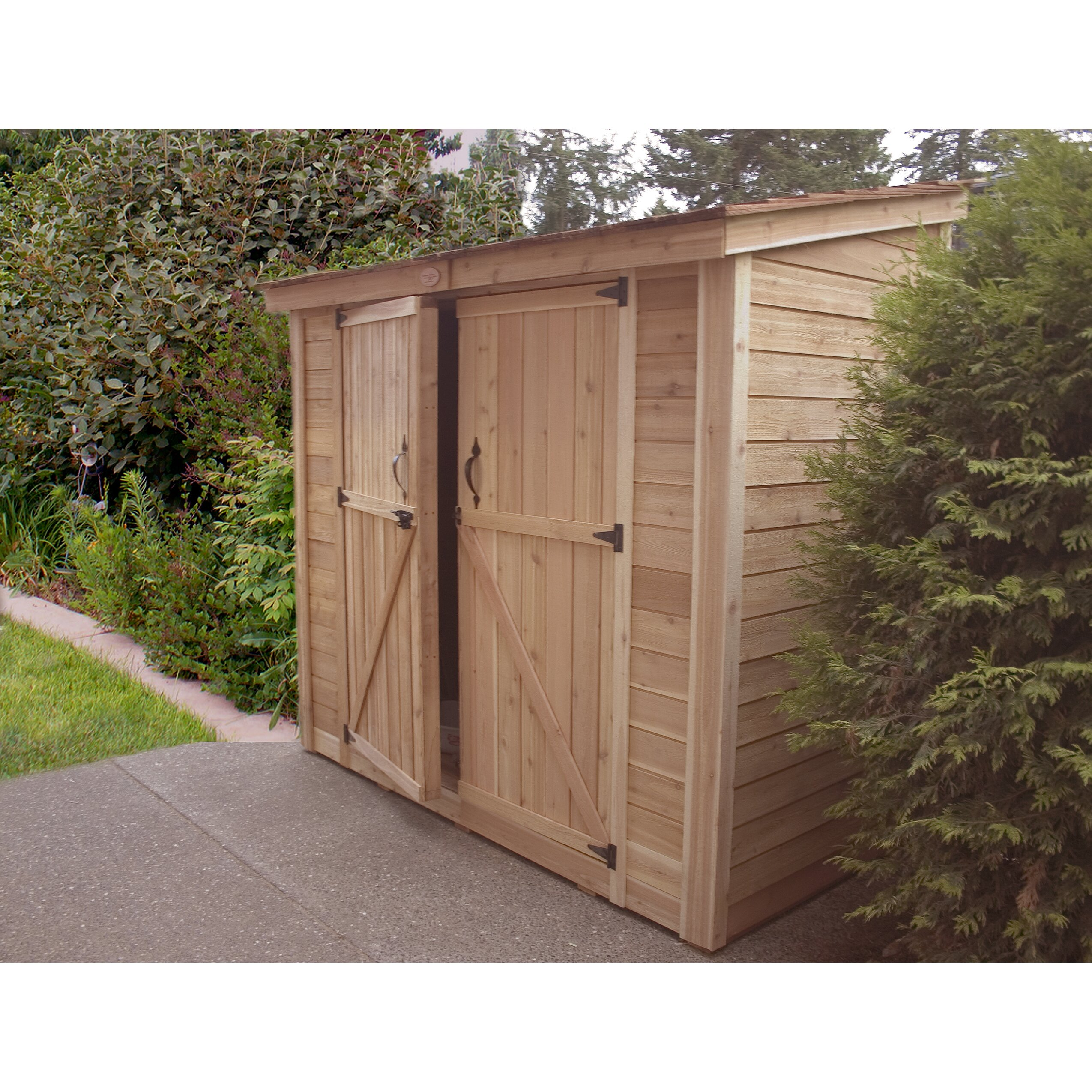 Outdoor living today spacesaver 8 5 ft w x 4 5 ft d wood for Garden shed 5 x 4