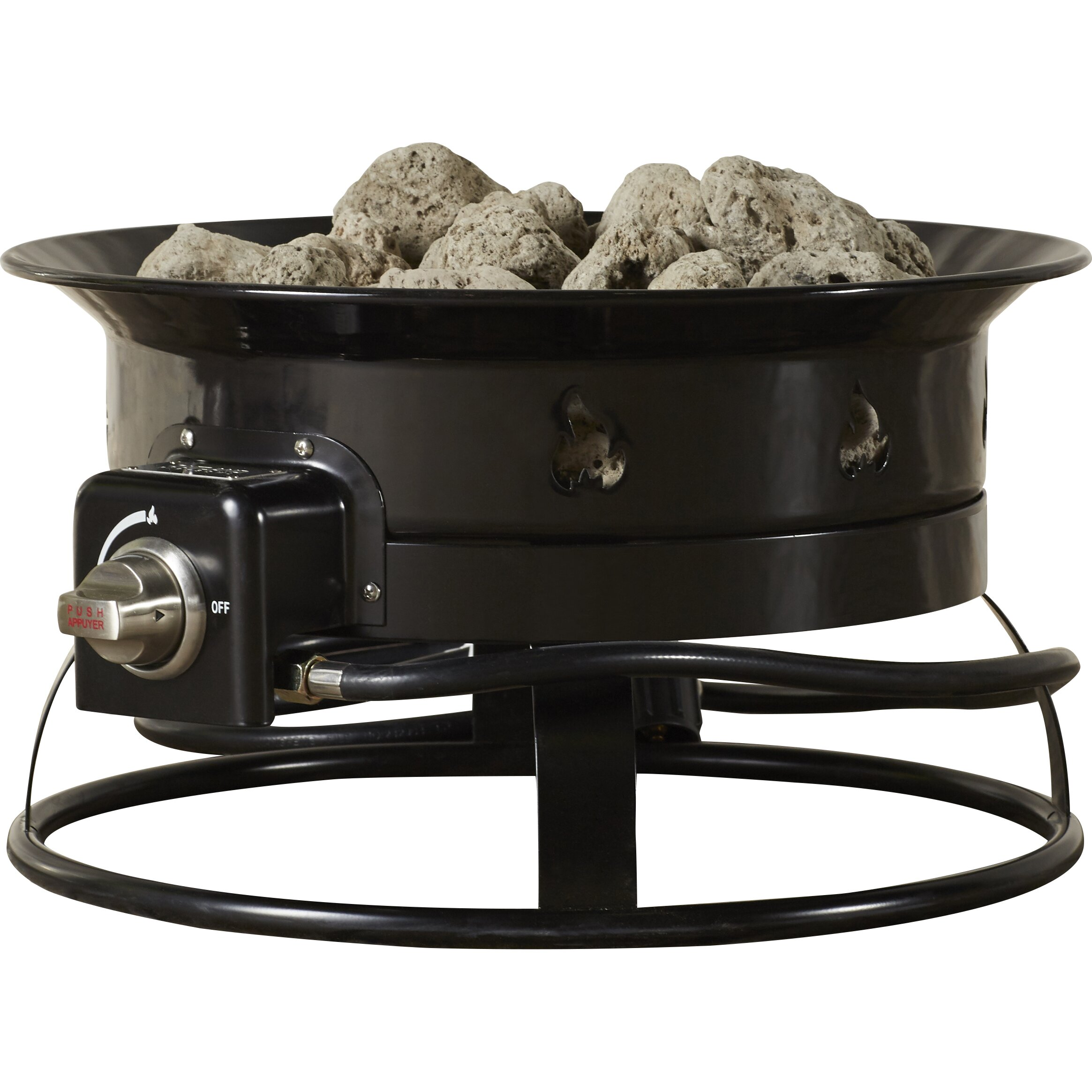 Portable Outdoor Kitchens: Heininger Heininger Portable Propane Outdoor Fire Pit
