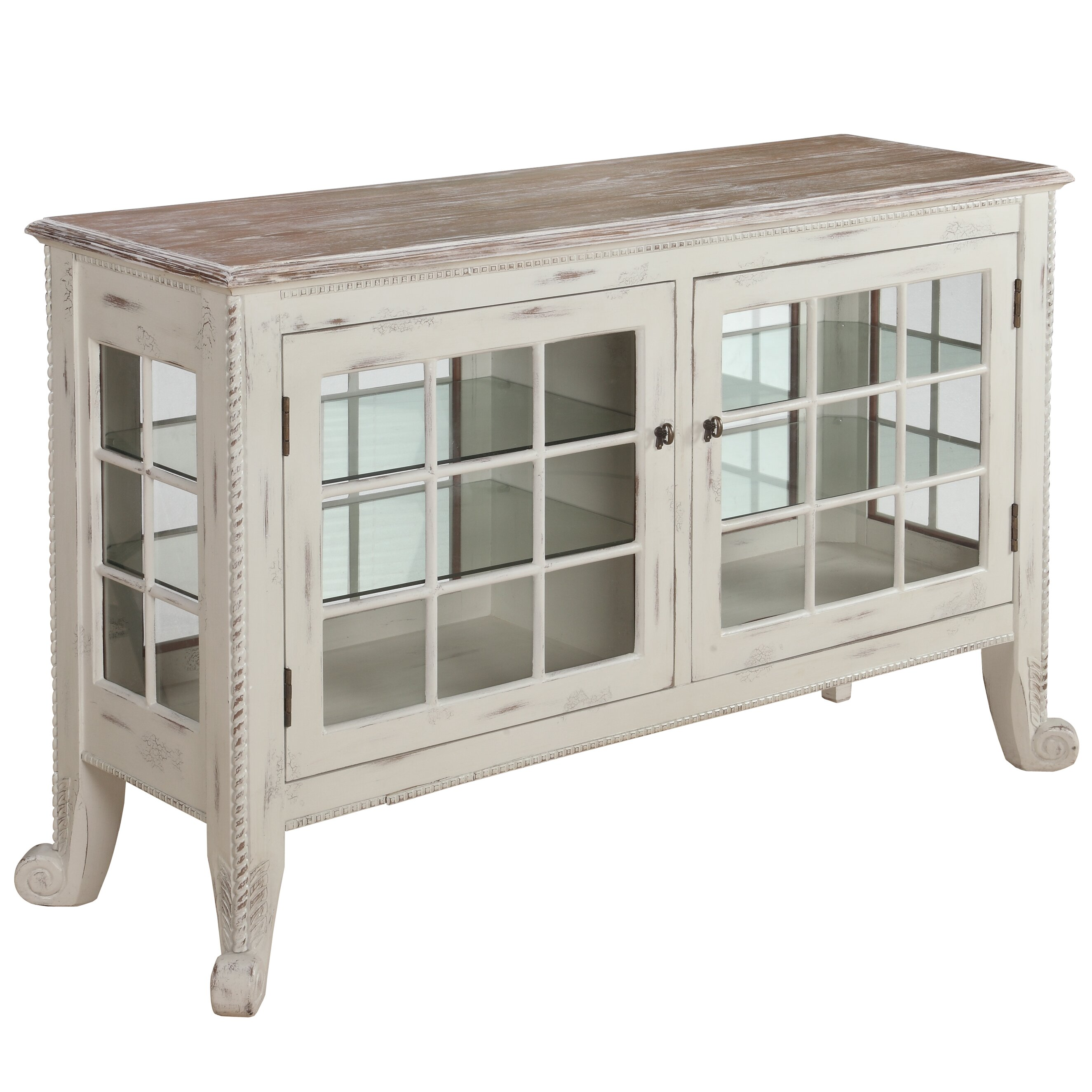 Gail S Accents Cottage Curio Console Amp Reviews Wayfair