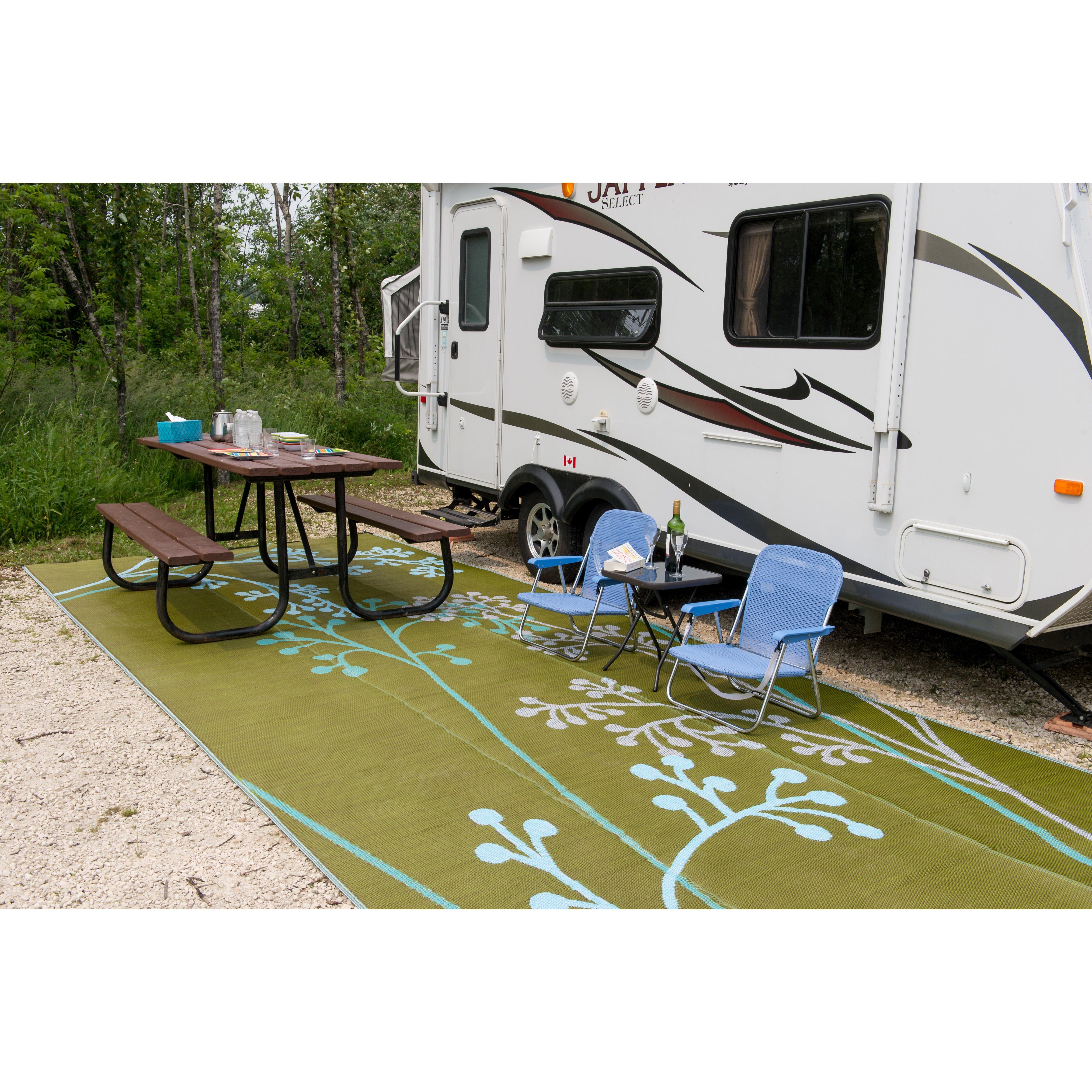 bonia Fernando Reversible RV Camping Patio Mat in