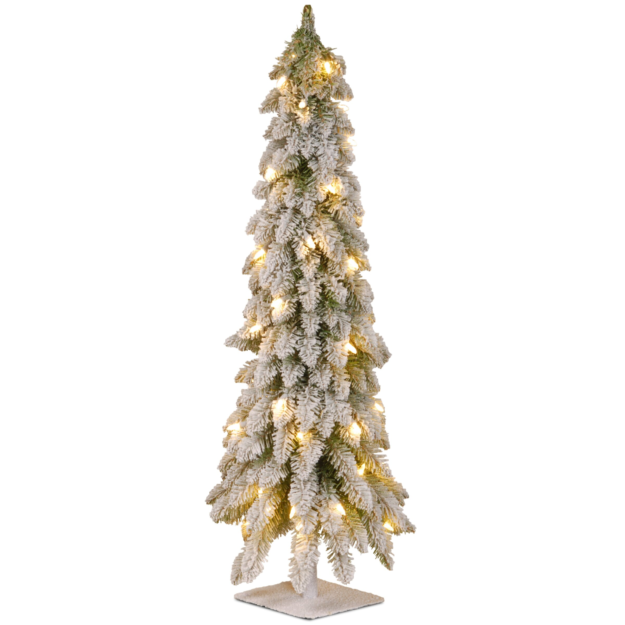 National Tree Co 4 39 White Downswept Artificial Christmas