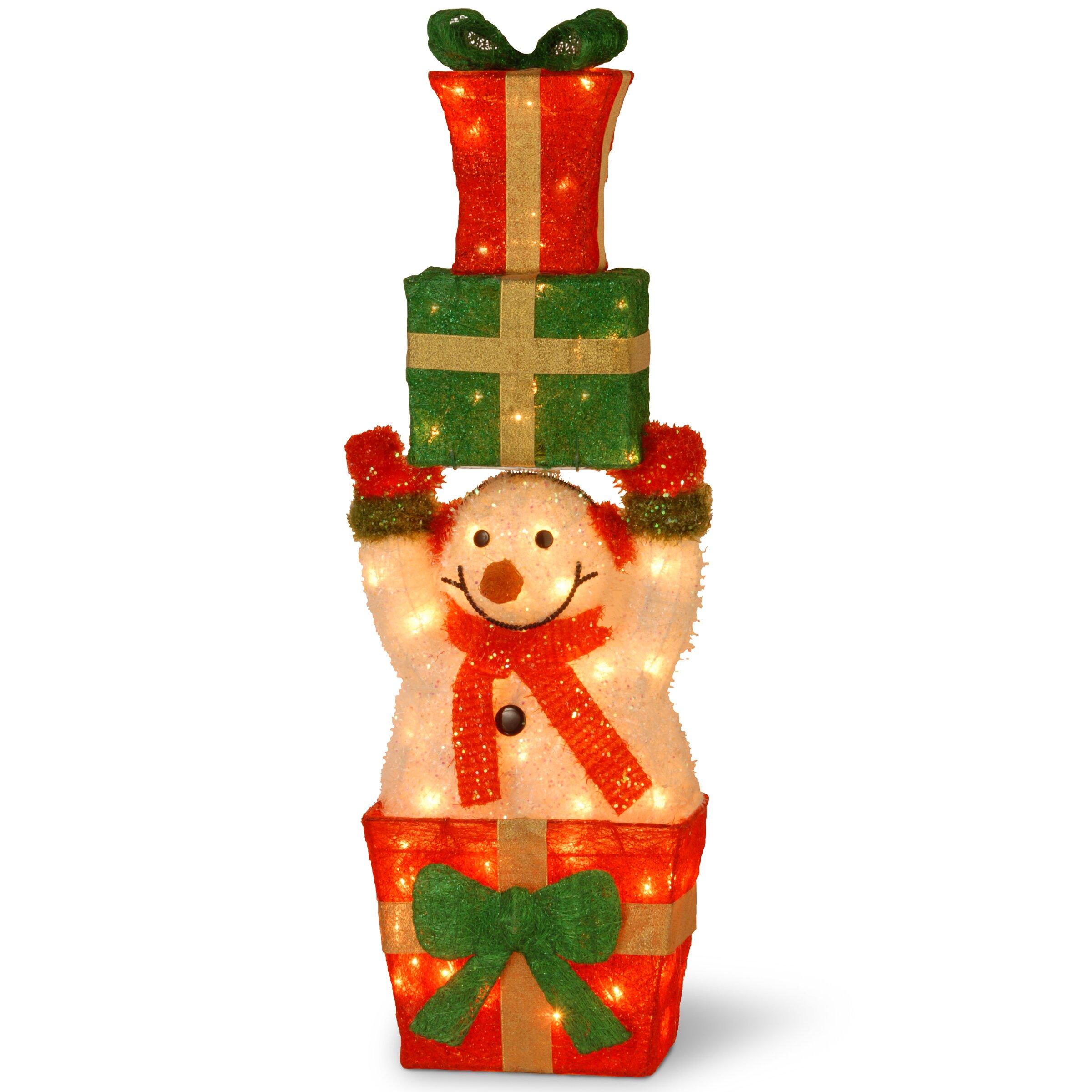 Decorate Christmas Tree Like Snowman: National Tree Co. Decorative Décor Pre-Lit Snowman Holding