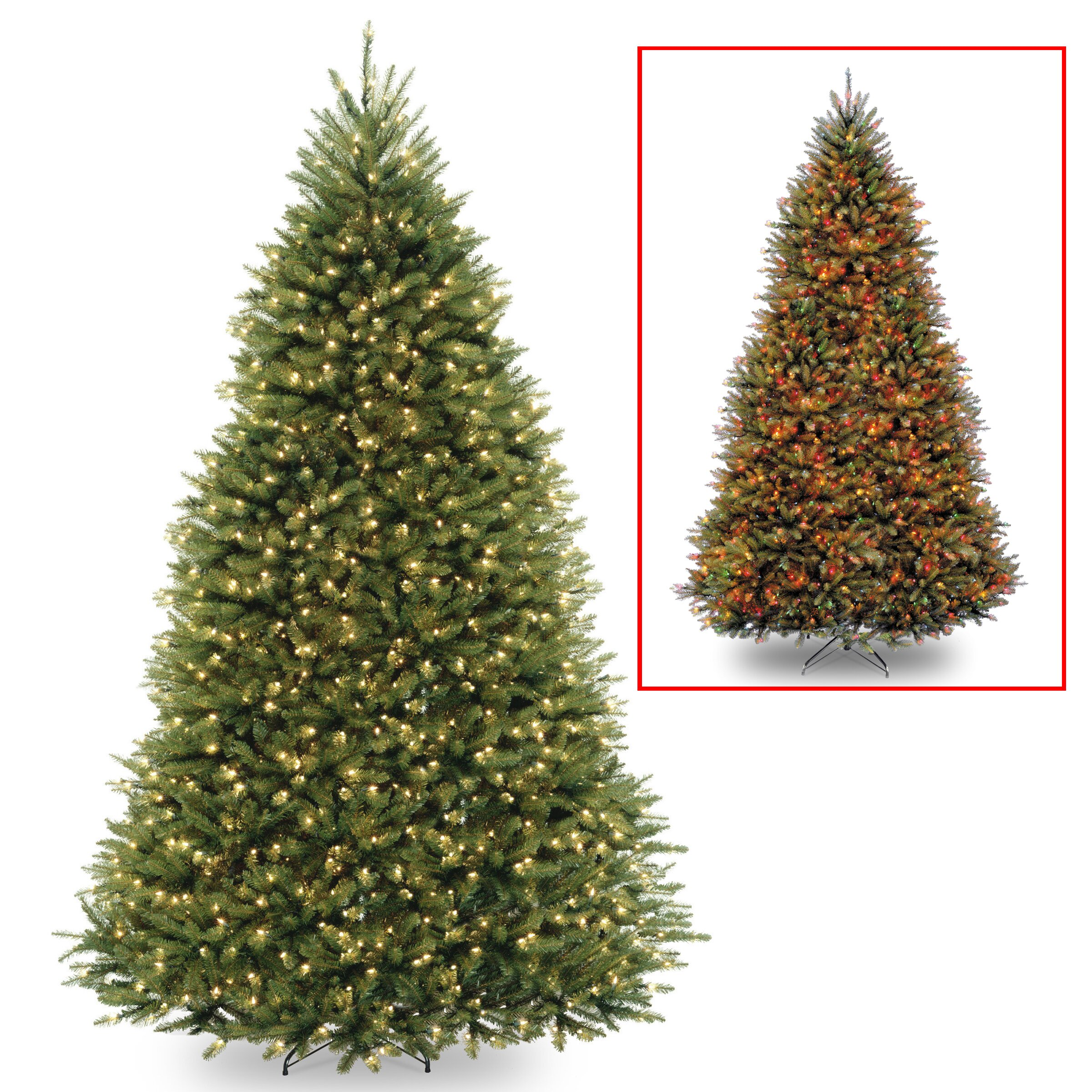 National Tree Co. Dunhill Fir 9' Hinged Green Artificial Christmas ...