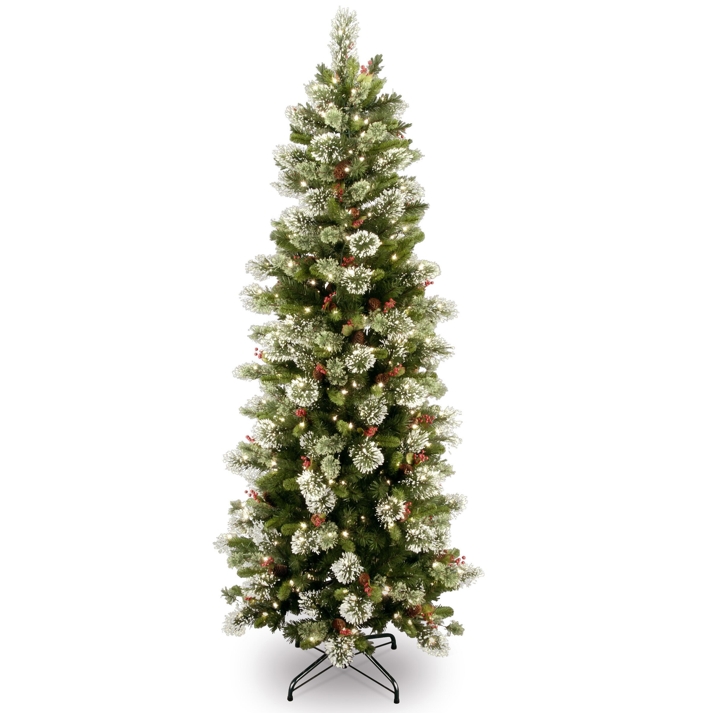 National Tree Co. Wintry Pine 7.5' Slim Artificial ...
