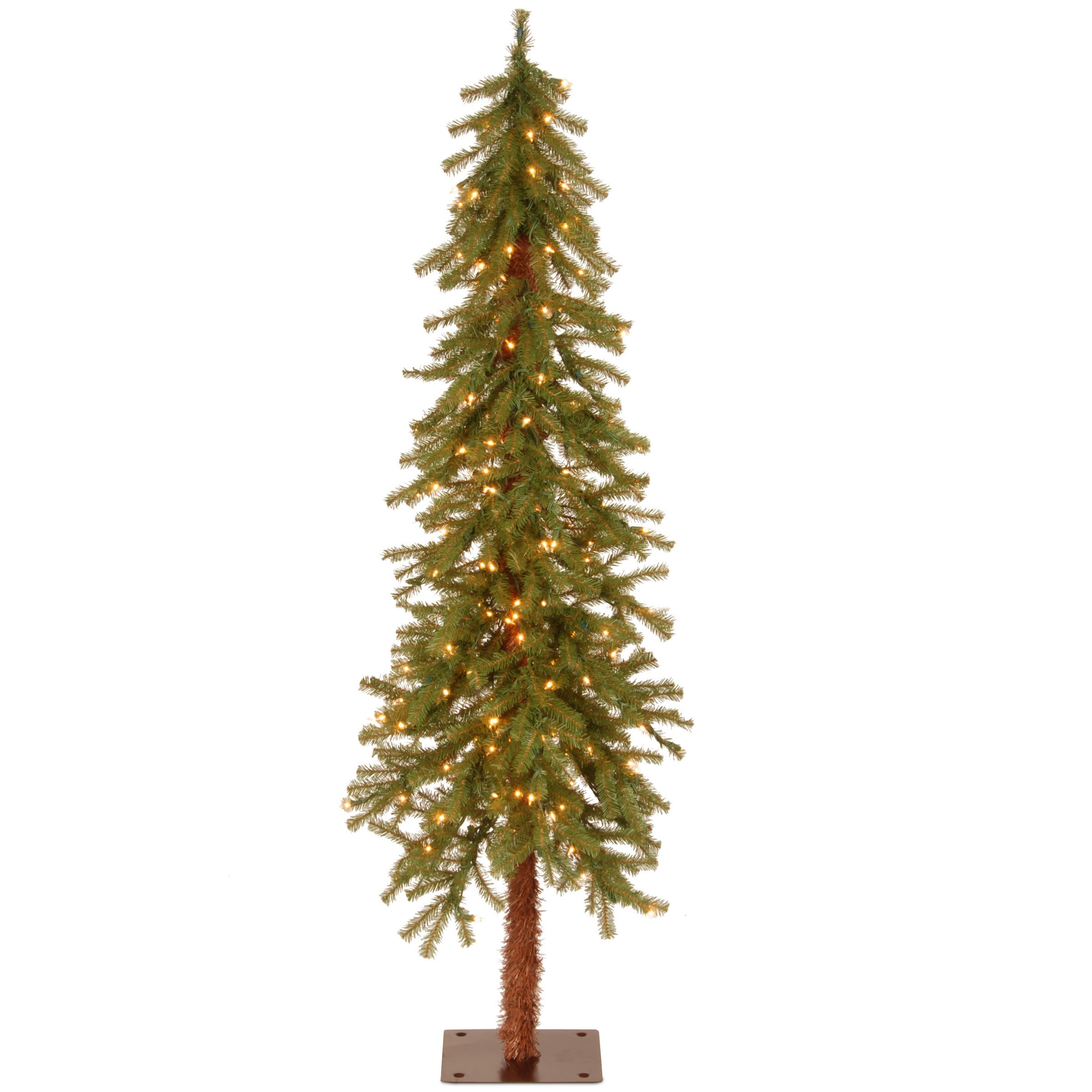 National Tree Co. Hickory Cedar 5' Green Artificial Christmas Tree with 150 Clear Lights ...
