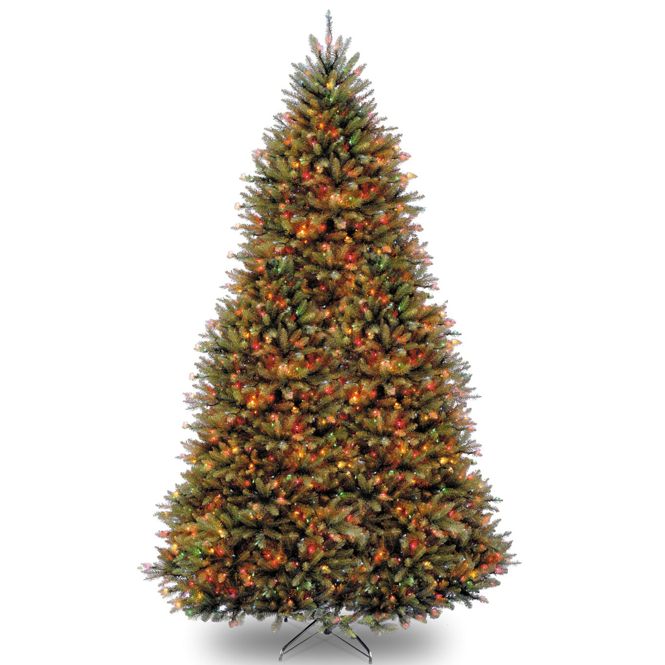 National Tree Co. Dunhill Fir 9' Hinged Green Artificial ...
