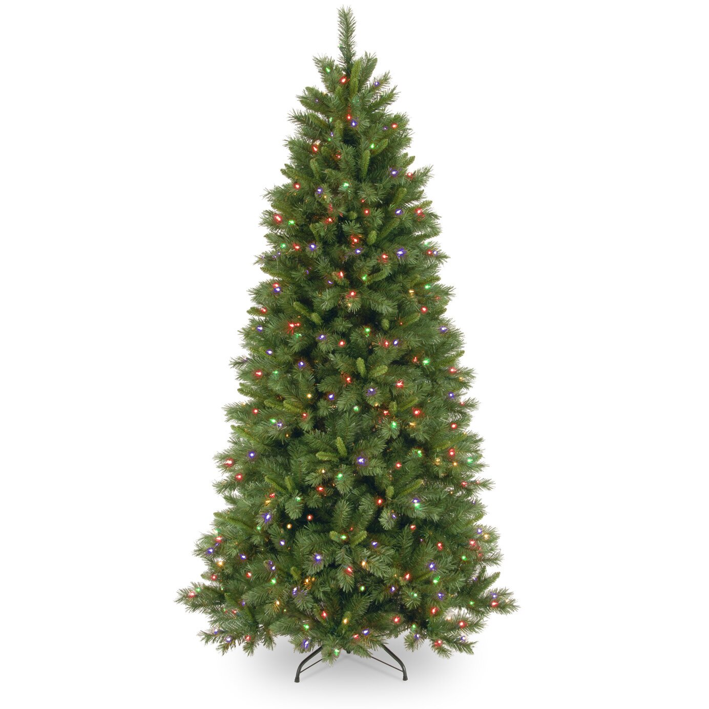 National Tree Co. Lehigh Valley Pine 7.5' Green Slim ...