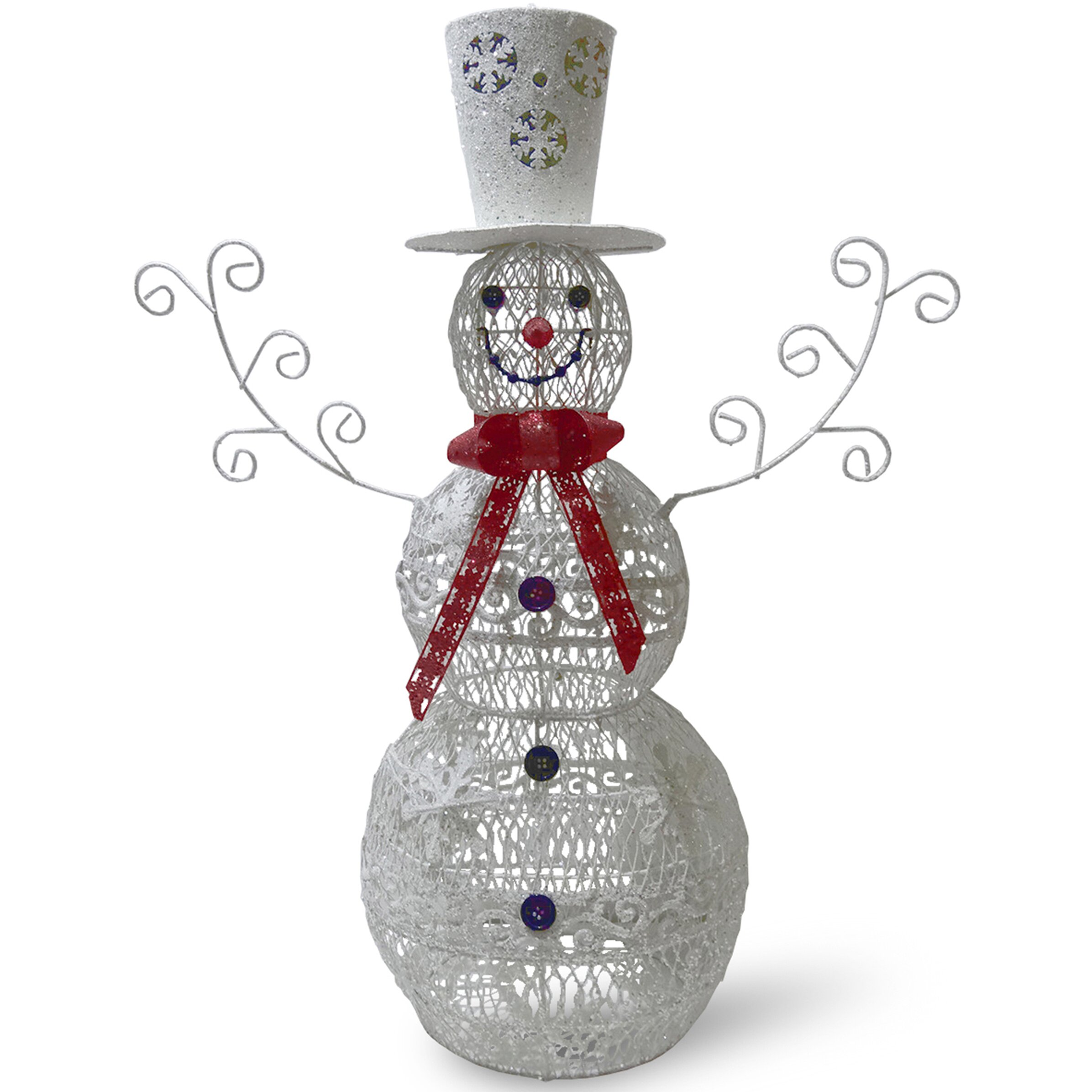 National Tree Co. Metal Snowman Christmas Decoration