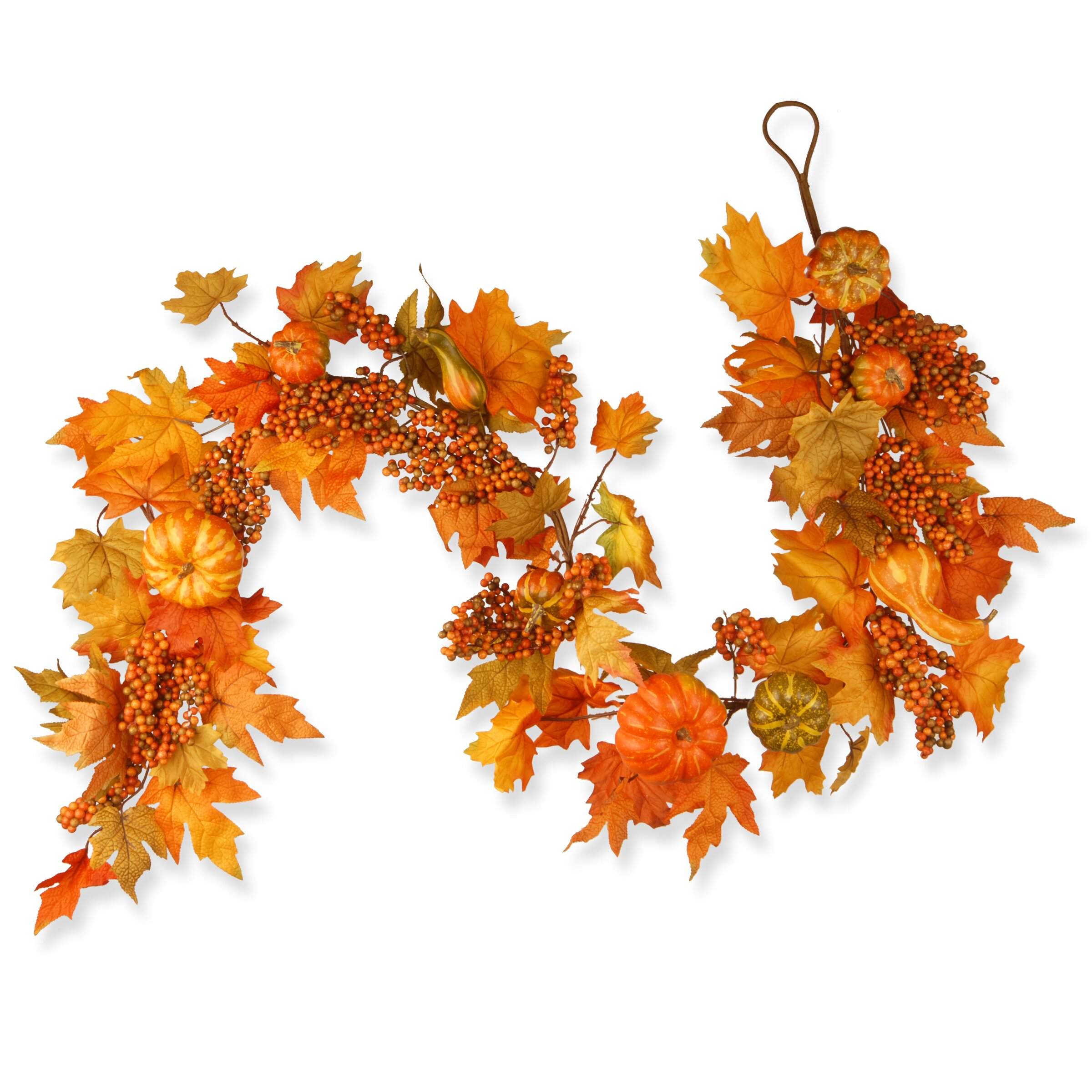 National Tree Co Harvest Maple Leaf Pumpkin And Berry