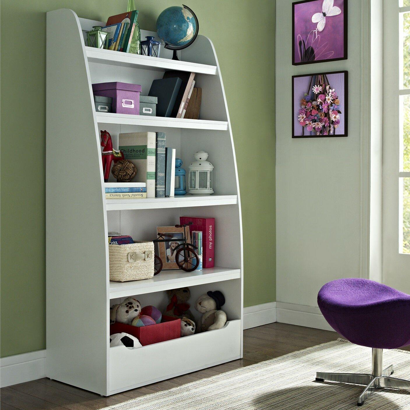 "White 6 Cube Kids Toy Games Storage Unit Girls Boys: Altra Kids Mia 60"" Bookcase & Reviews"