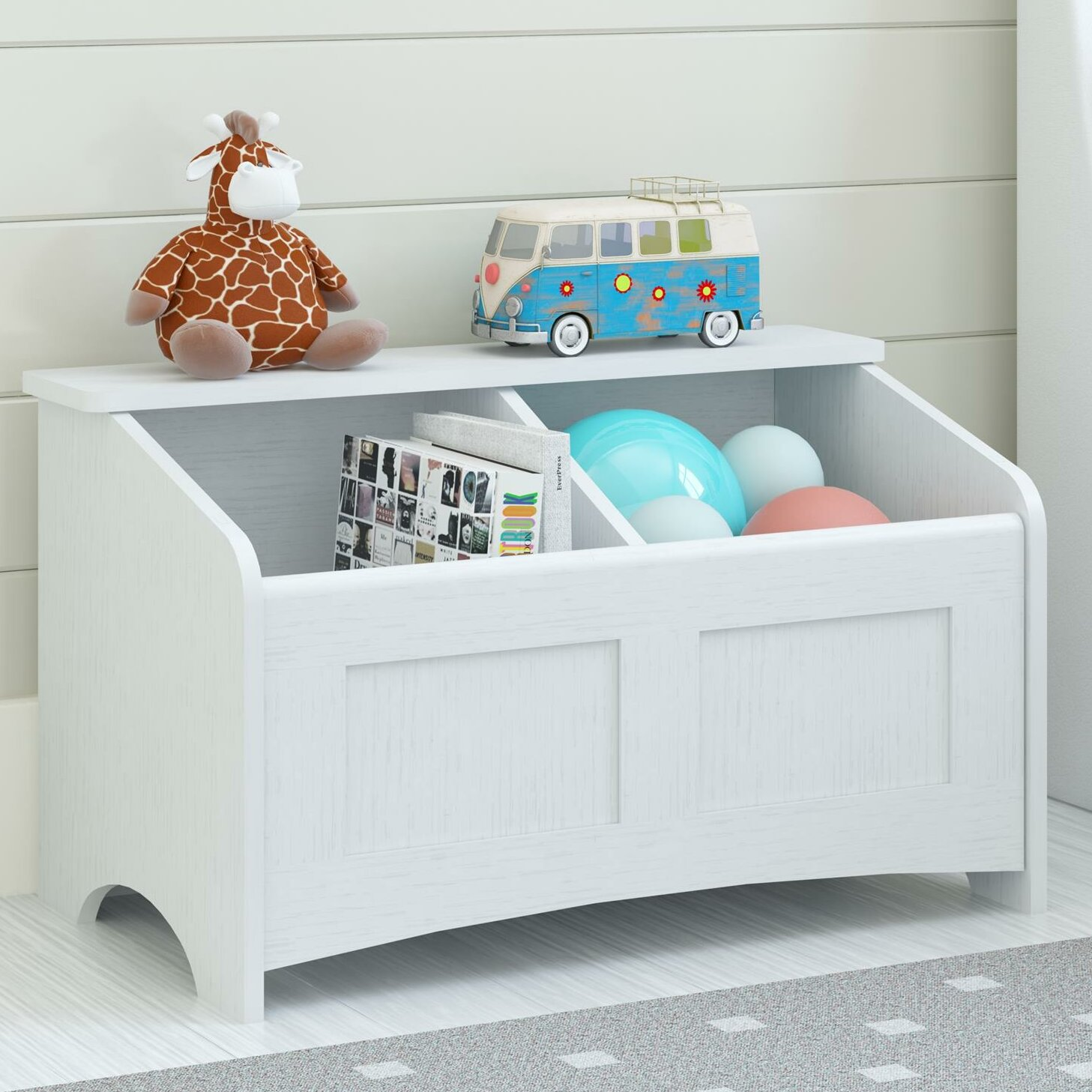 altra toy box with section divider reviews wayfair