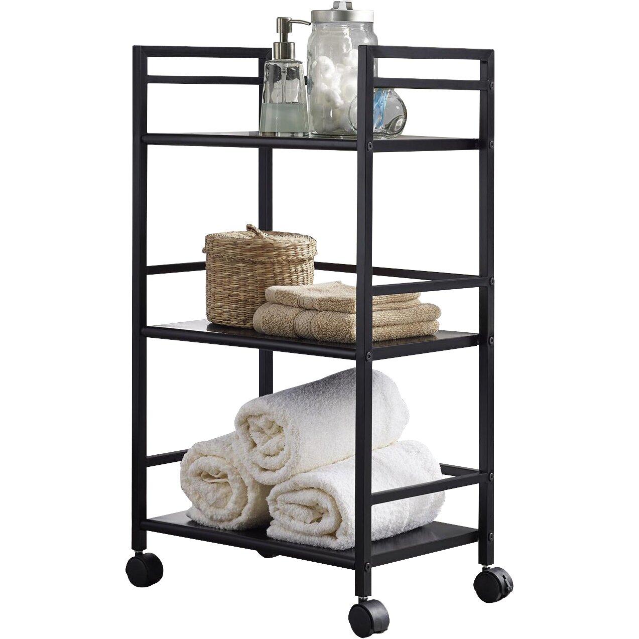 altra marshall three shelf rolling utility cart reviews. Black Bedroom Furniture Sets. Home Design Ideas