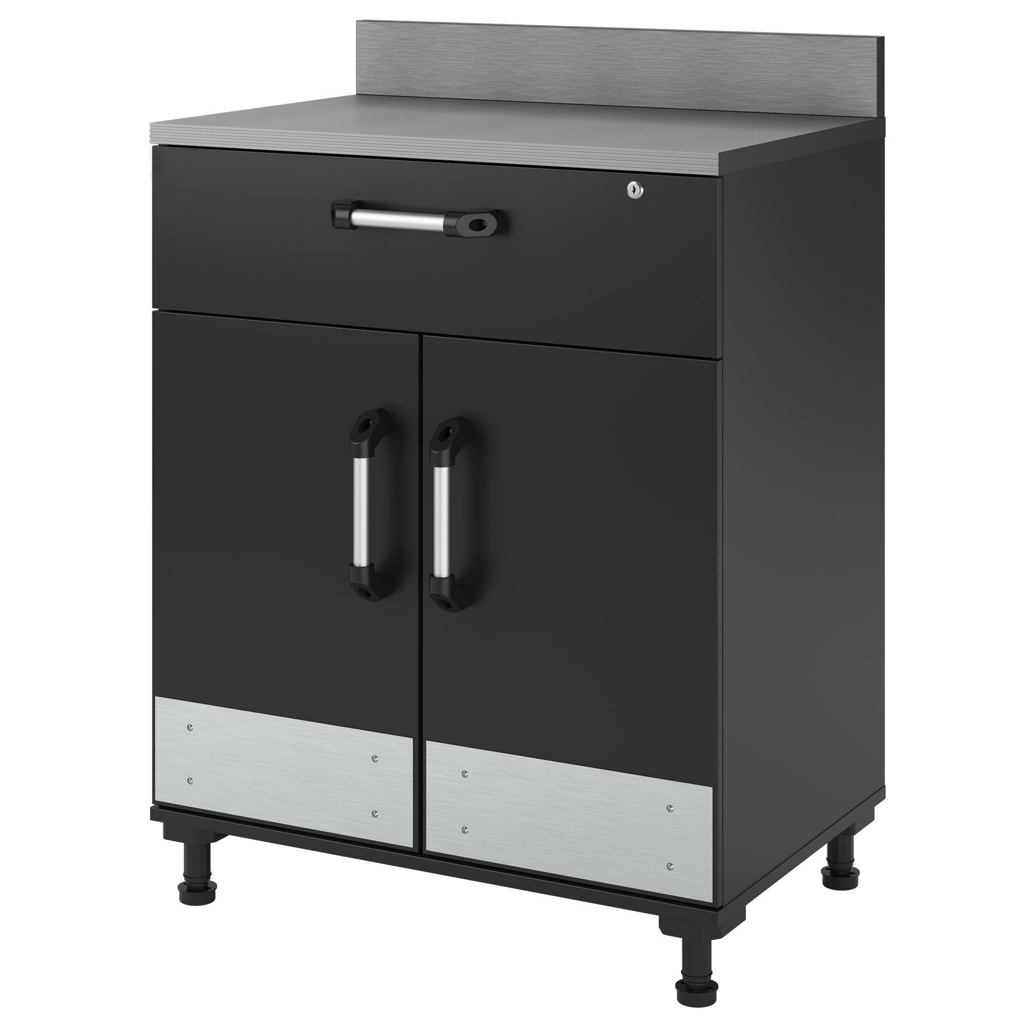 Altra boss 41 h x 29 7 w x 19 7 d 2 door 1 drawer for 1 drawer 2 door cabinet