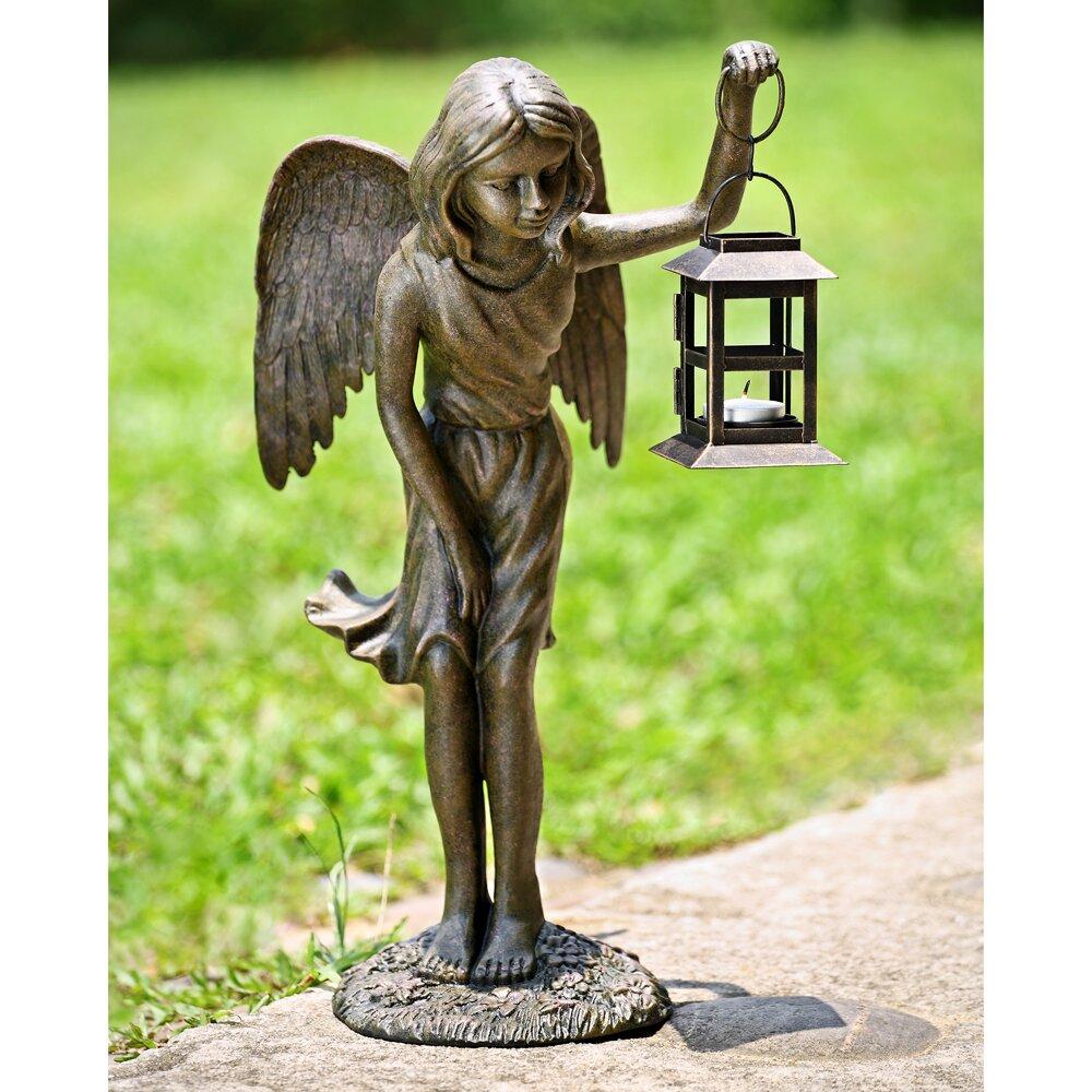 Wayfair Garden Statues: SPI Home Angel Garden Lantern Statue & Reviews
