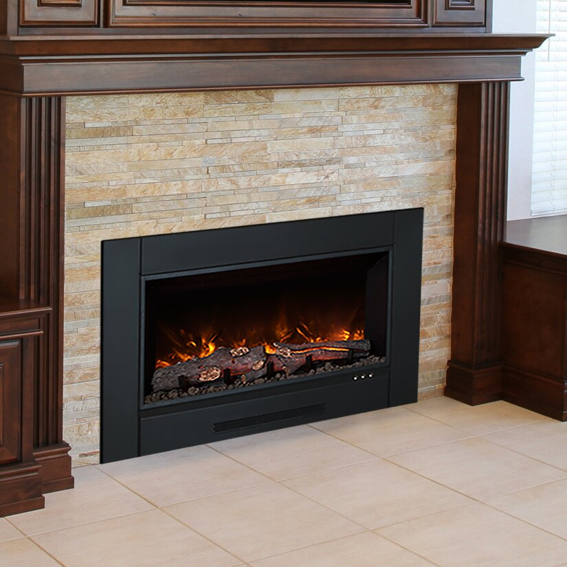 Modern flames zcr series electric fireplace insert for Contemporary fireplace insert