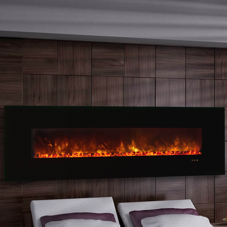 Dimplex 40 Inch Sahara Gun Metal Wall Mounted Electric Fireplace ...