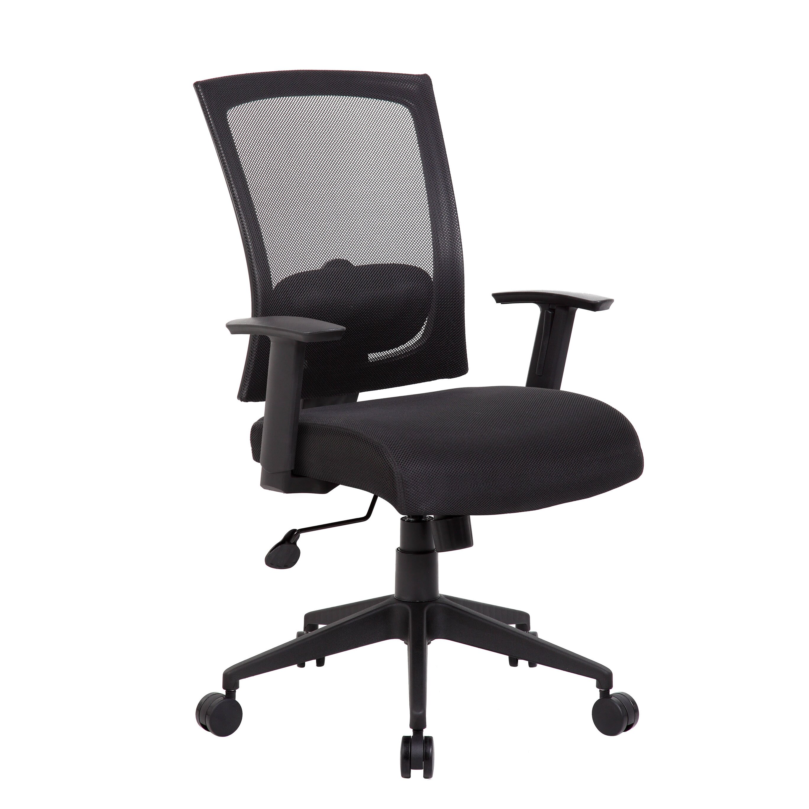 Boss Office Products Adjustable High Back Mesh Office Chair With Arms R