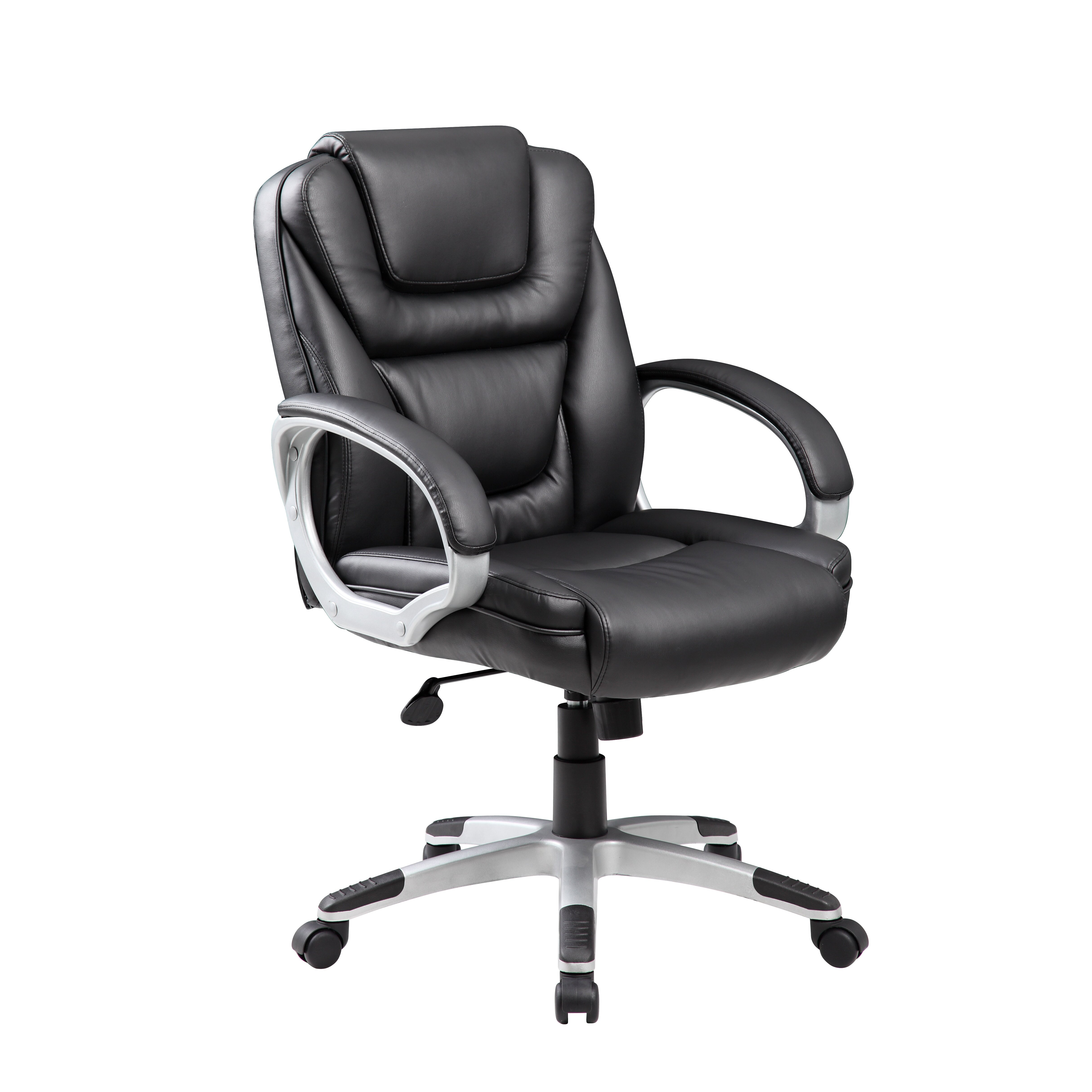 boss office products mid back executive chair with arms
