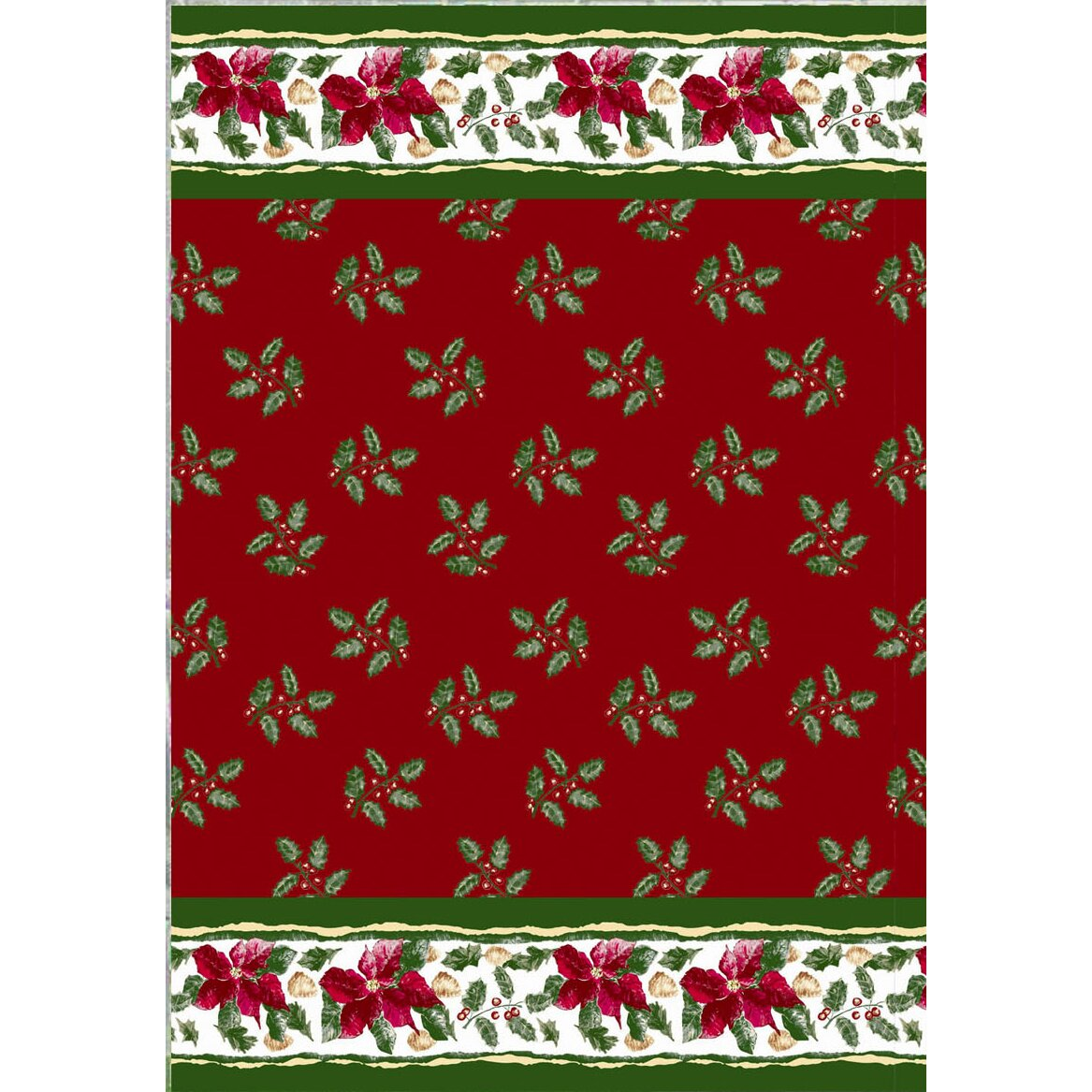 Carnation Home Fashions Christmas Floral Holiday Print Shower Curtain Set Reviews Wayfair