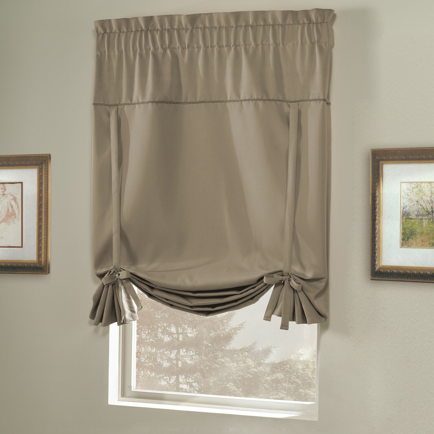 united curtain co blackstone tie up shade reviews. Black Bedroom Furniture Sets. Home Design Ideas