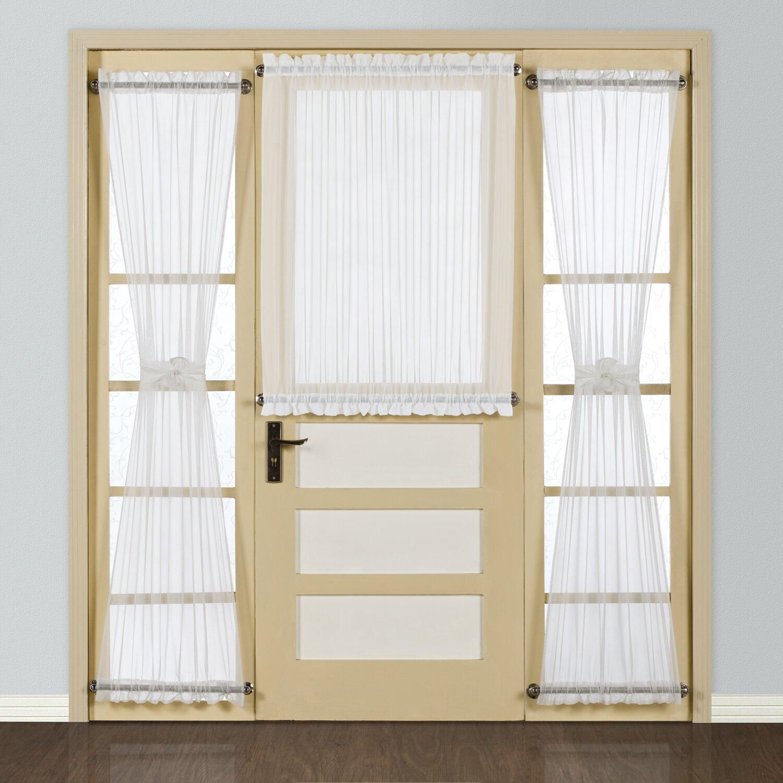 united curtain co batiste half rod pocket door single curtain panel reviews wayfair. Black Bedroom Furniture Sets. Home Design Ideas