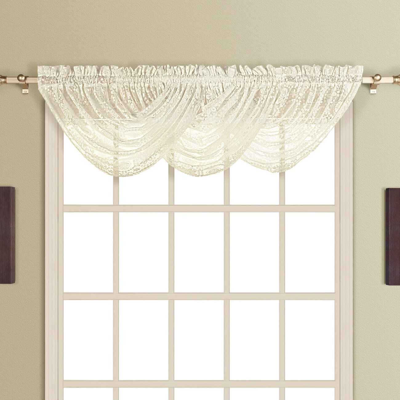 United Curtain Co New Rochelle Waterfall Curtain Valance Reviews Wayfair